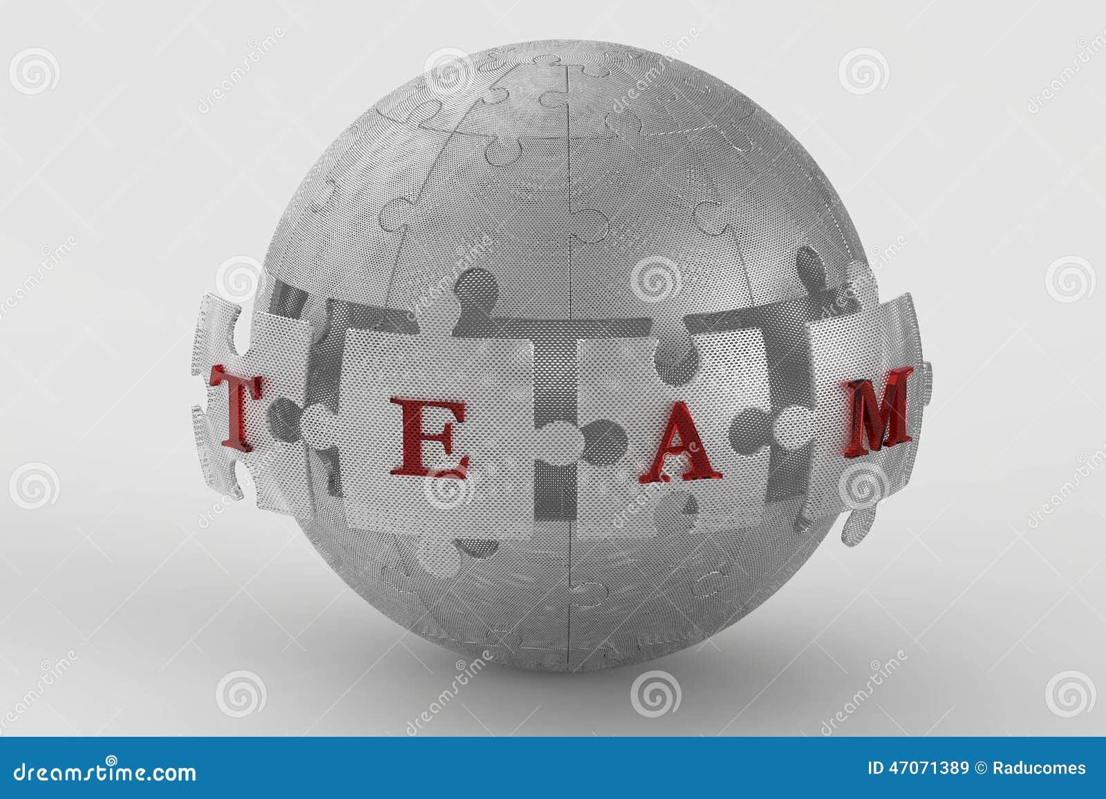 Metallmaschenteam-Puzzlespielkugel