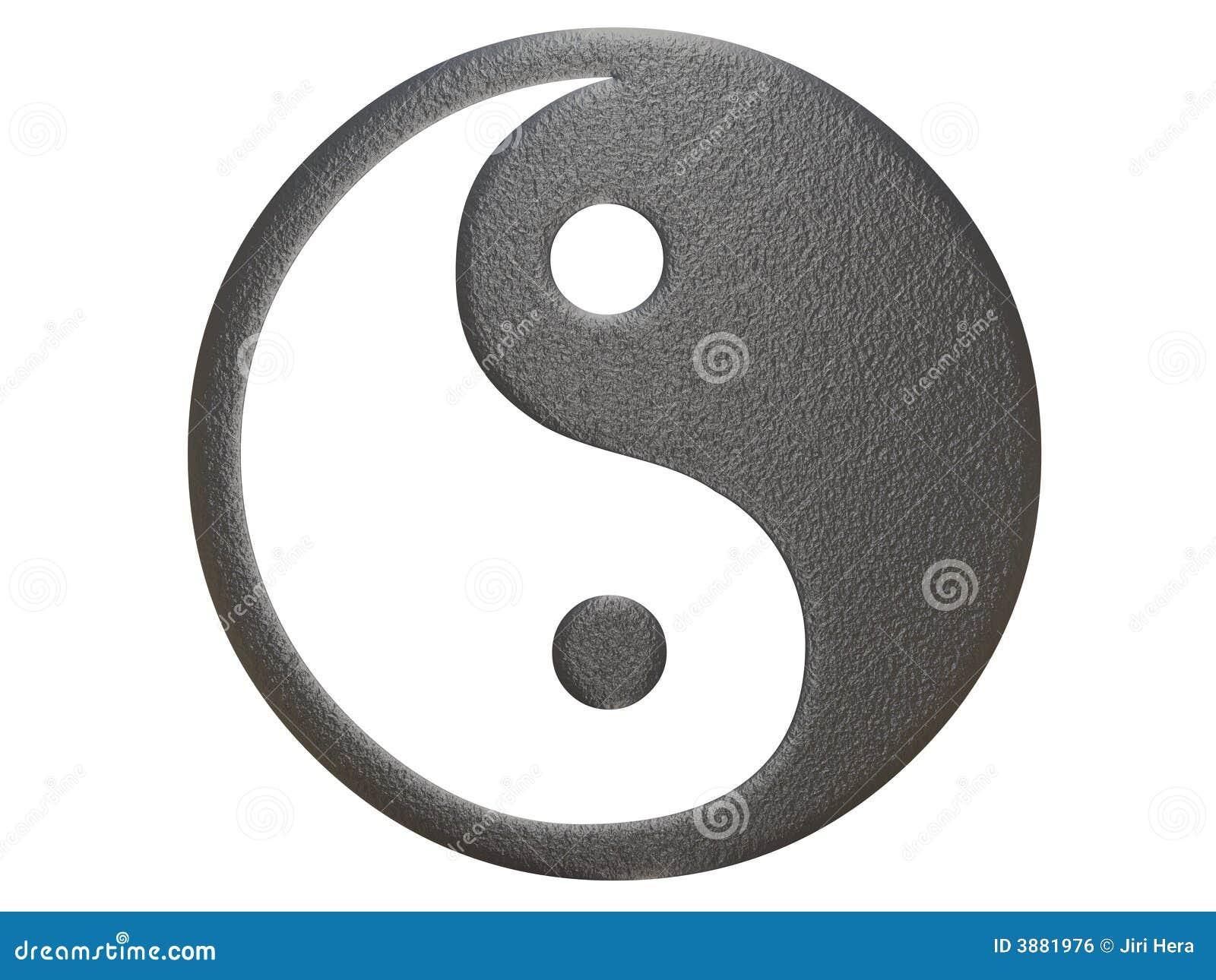 Metallo che ying il segno del yang