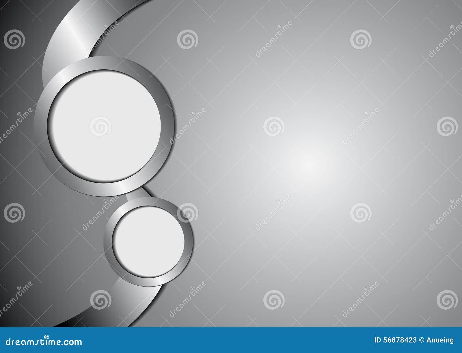 Metallo e spazio astratti del cerchio per testo