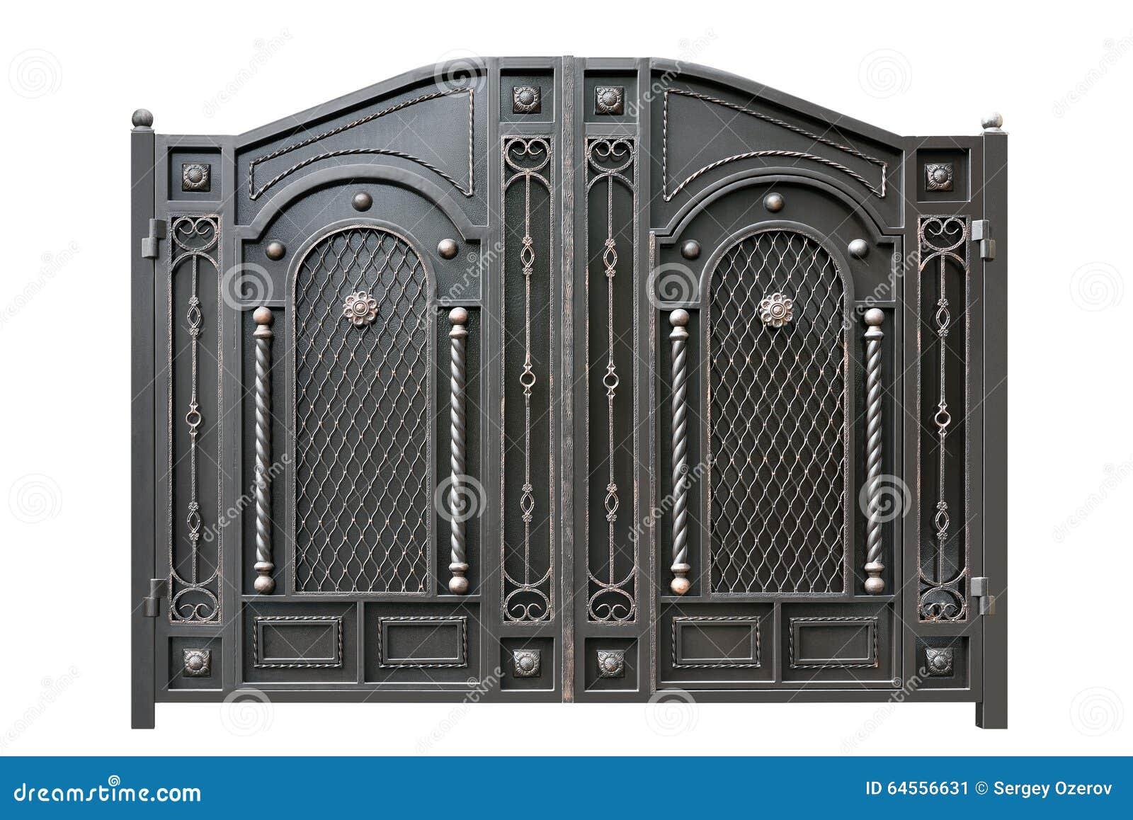 Metallport med prydnaden arkivfoto   bild: 64556631