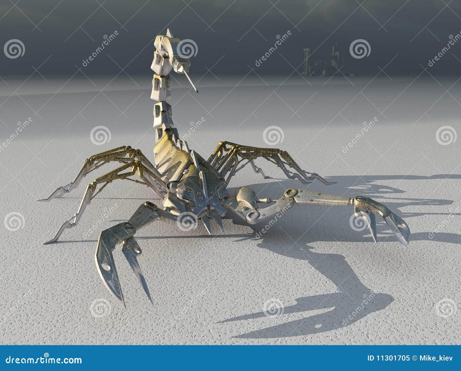 Metallroboterskorpion