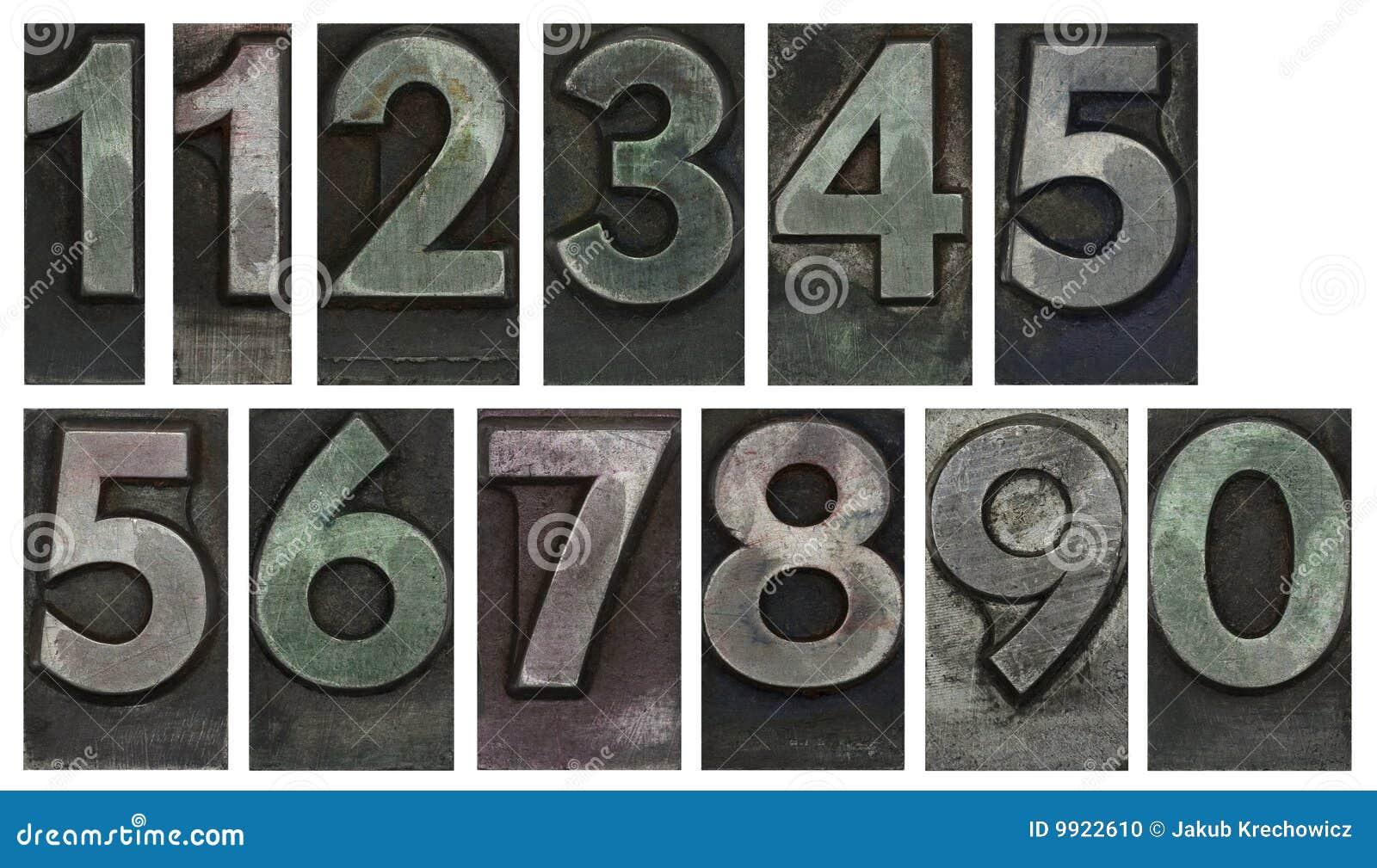 Metalltyp Zahlen