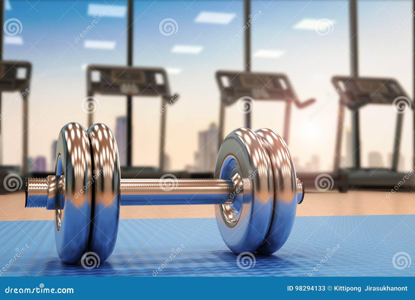 Metalu dumbbell w gym