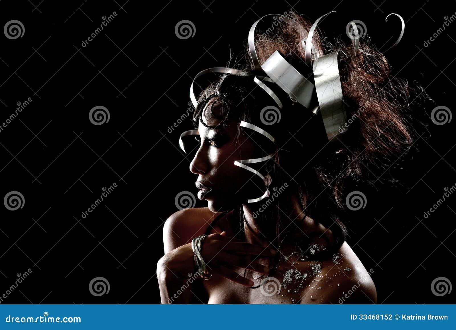 Metalu Headpiece na Piękny Wzorcowy Pozować
