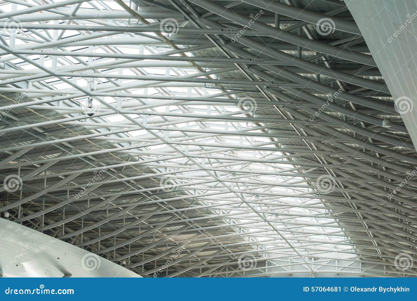 Metalu i szkła dach ogromny pusty hangar