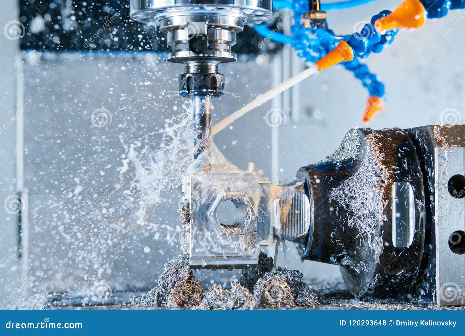Metalurgia que muele Metal del CNC que trabaja a máquina por el molino vertical Líquido refrigerador y lubricación