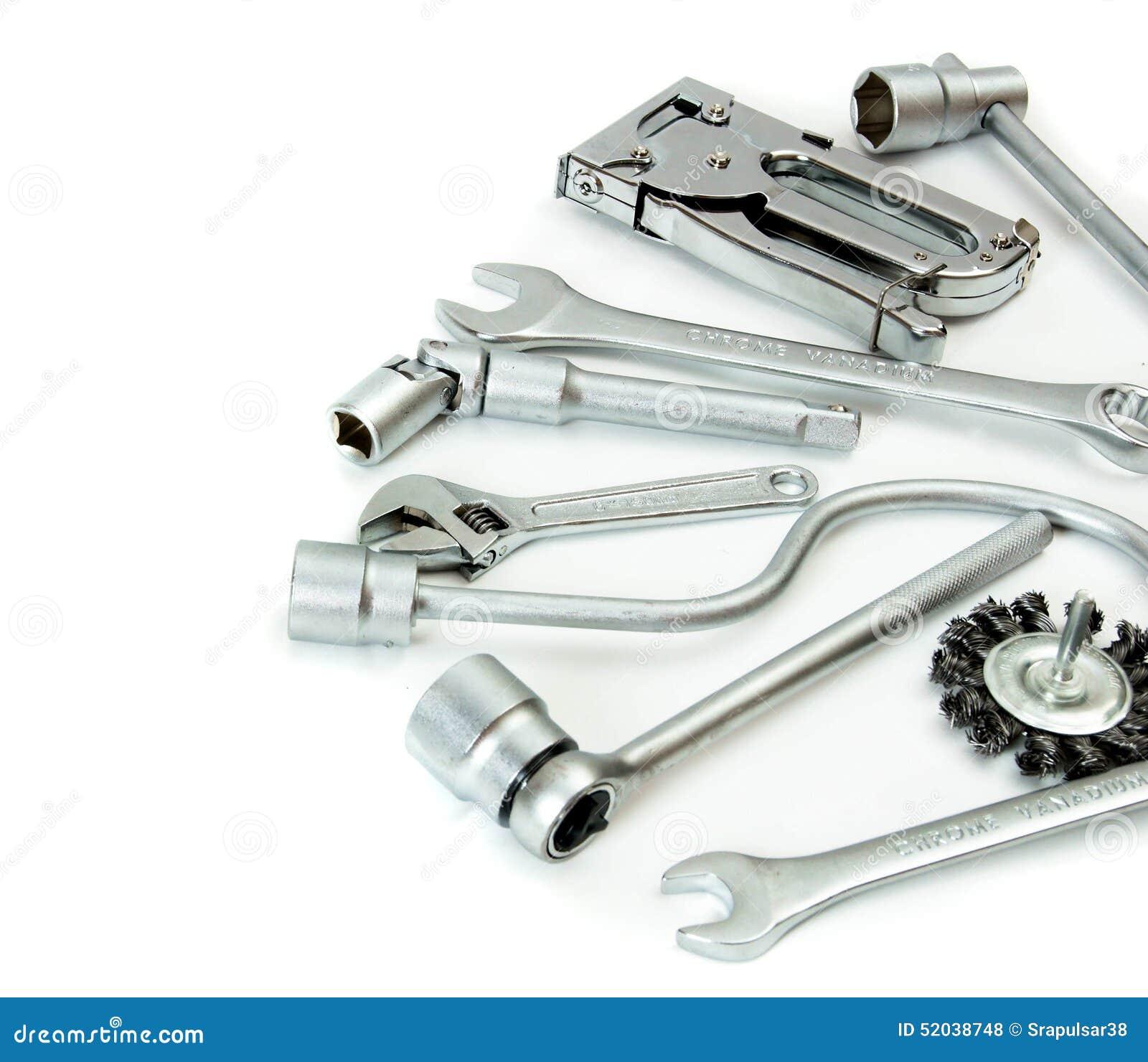 Metalwork Clé, agrafeuse et d autres outils dessus
