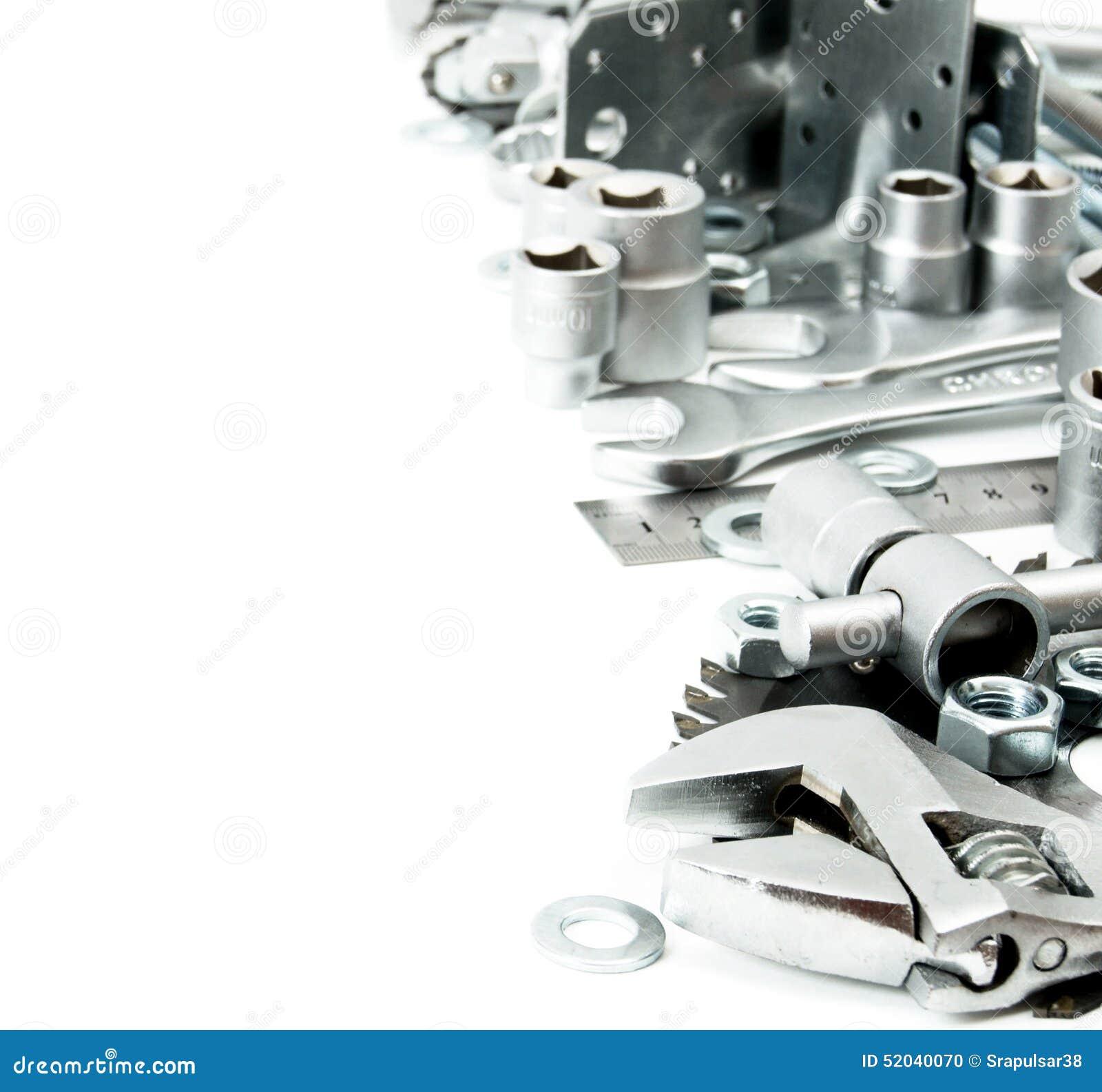 Metalwork Clé, lingot et d autres outils dessus