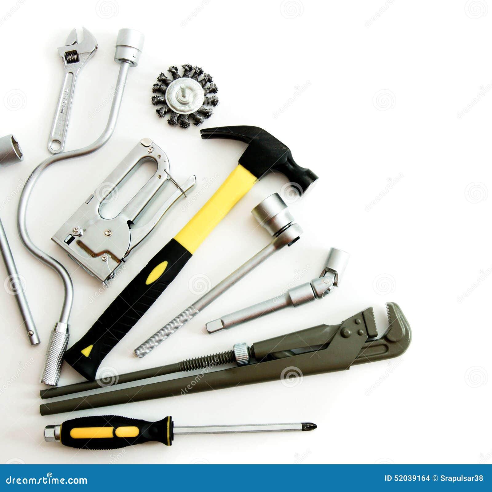 Metalwork Marteau, agrafeuse et d autres outils dessus