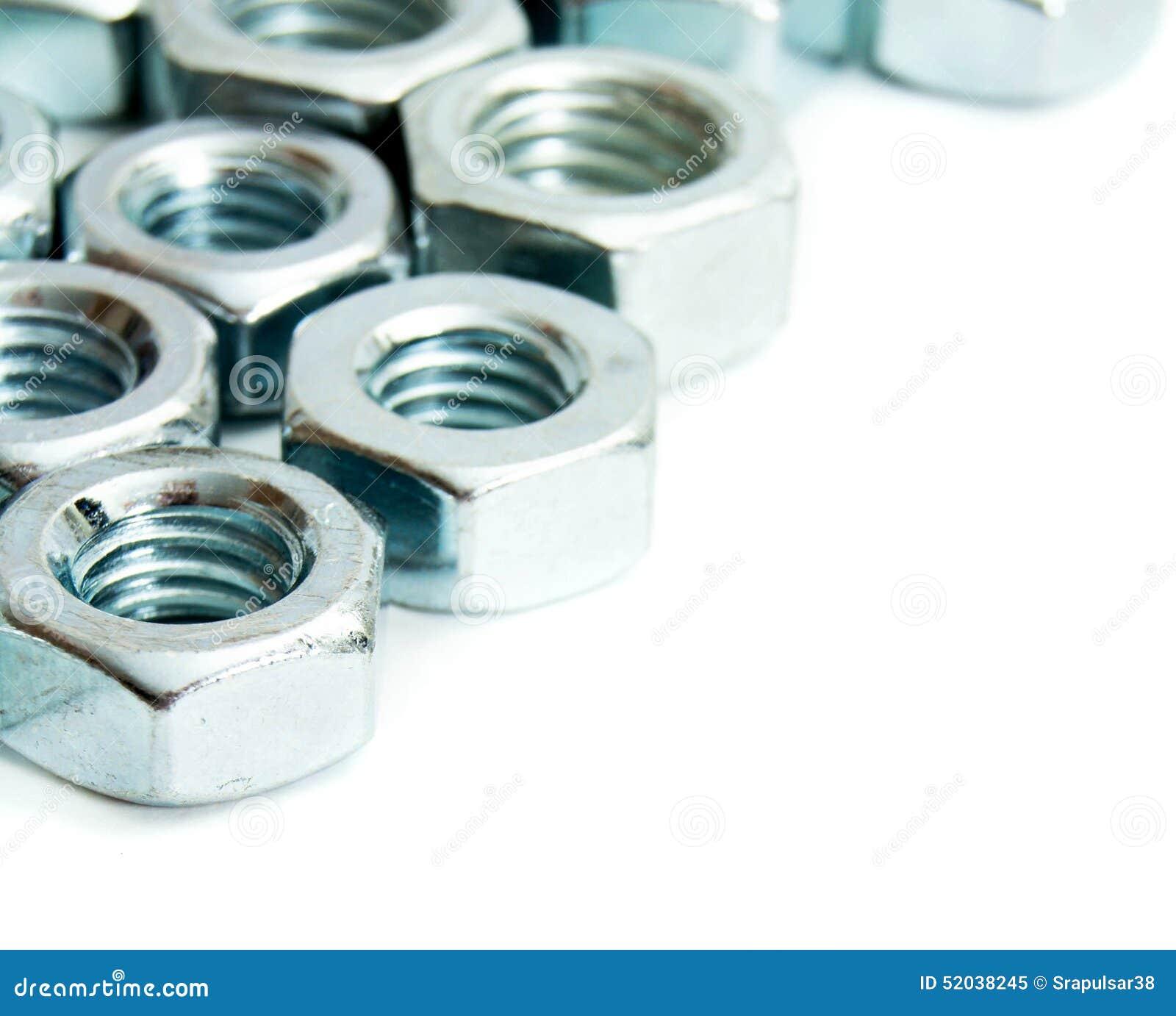 Metalwork Montage en métal sur un fond blanc