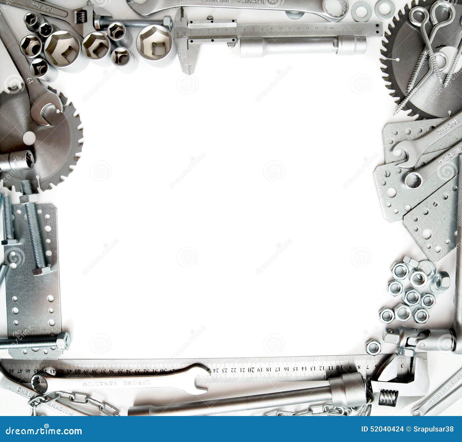 Metalwork Règle, clé, vis et d autres outils