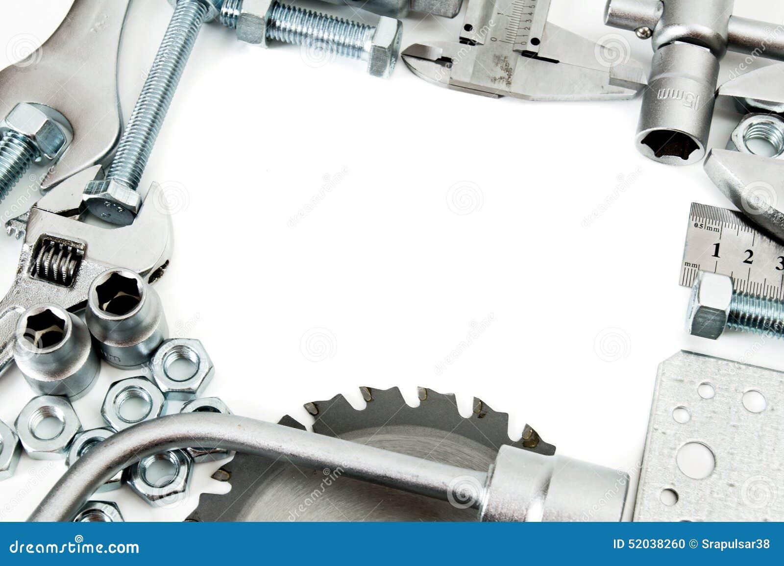 Metalwork Regla, llave, tornillo y otros herramientas