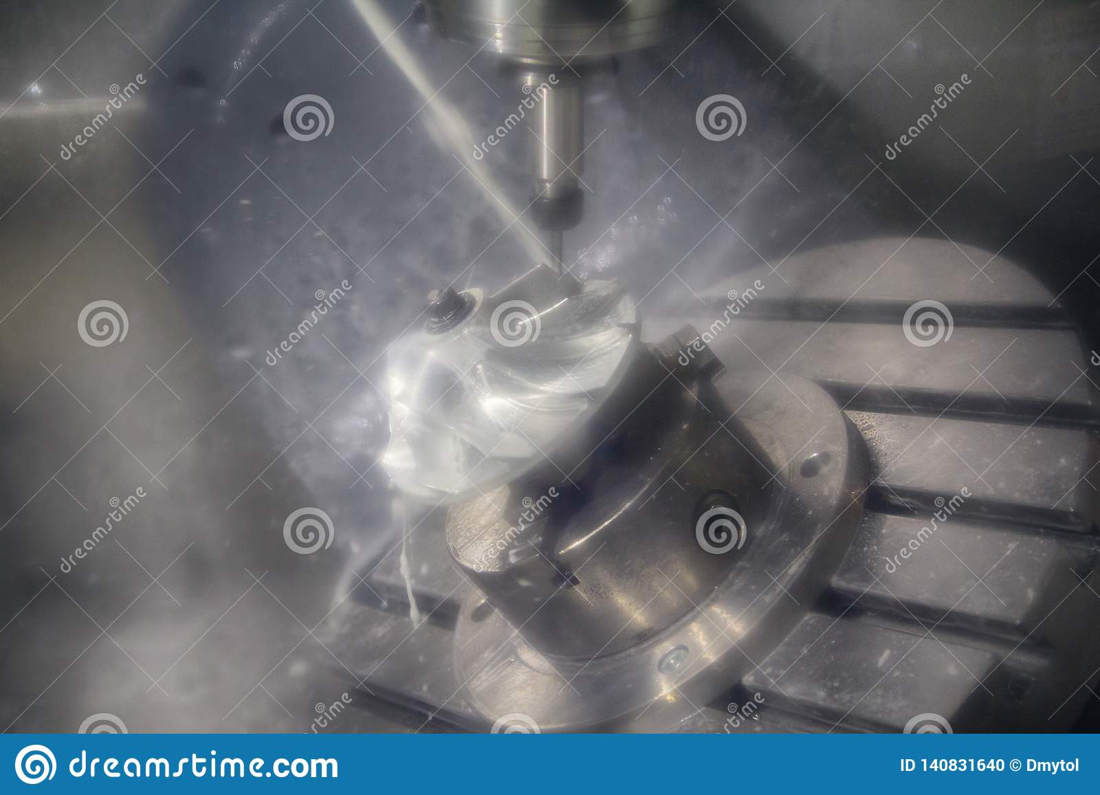Metalworking CNC mielenia maszyna Tnącego metalu nowożytna przerobowa technologia Mała głębia pole