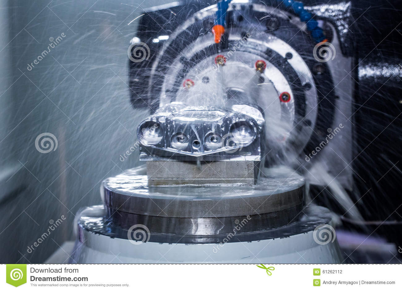 Metalworking Cnc Milling Machine Stock Photo Image