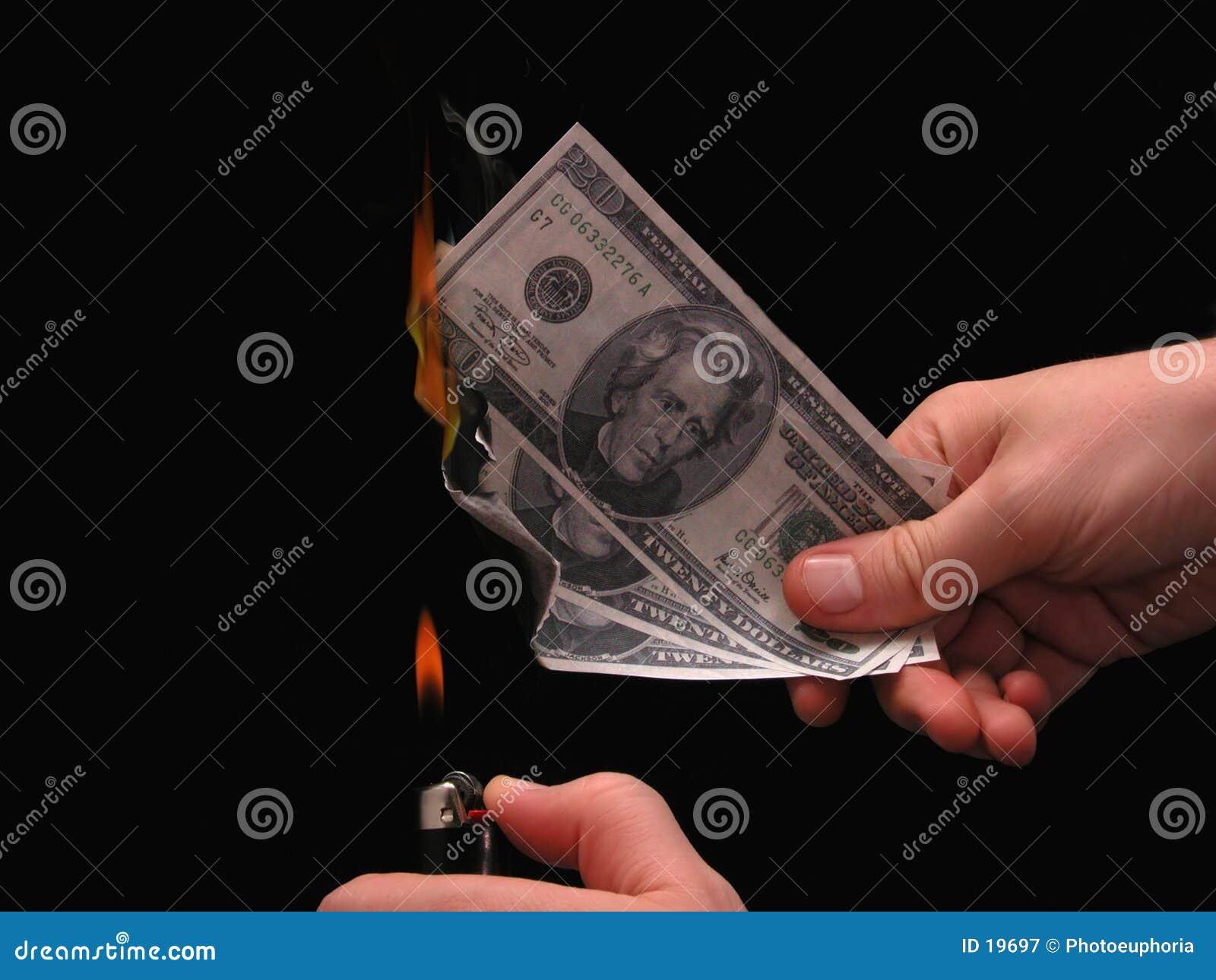 Metapher: Geld zum zu brennen