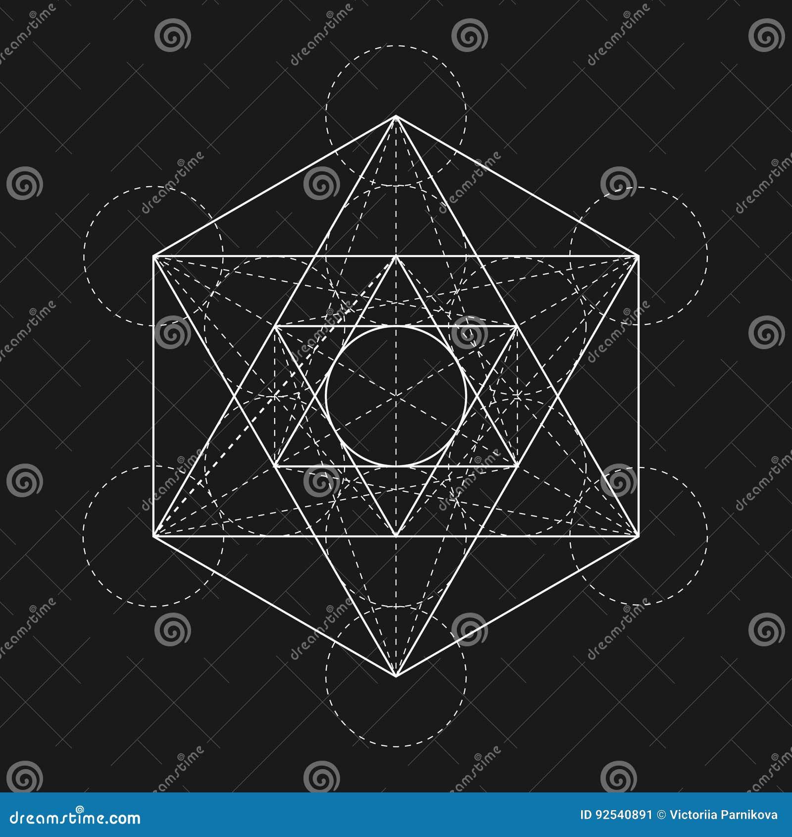Metatrons sześcian Kwiat życie Święty Geometryczny