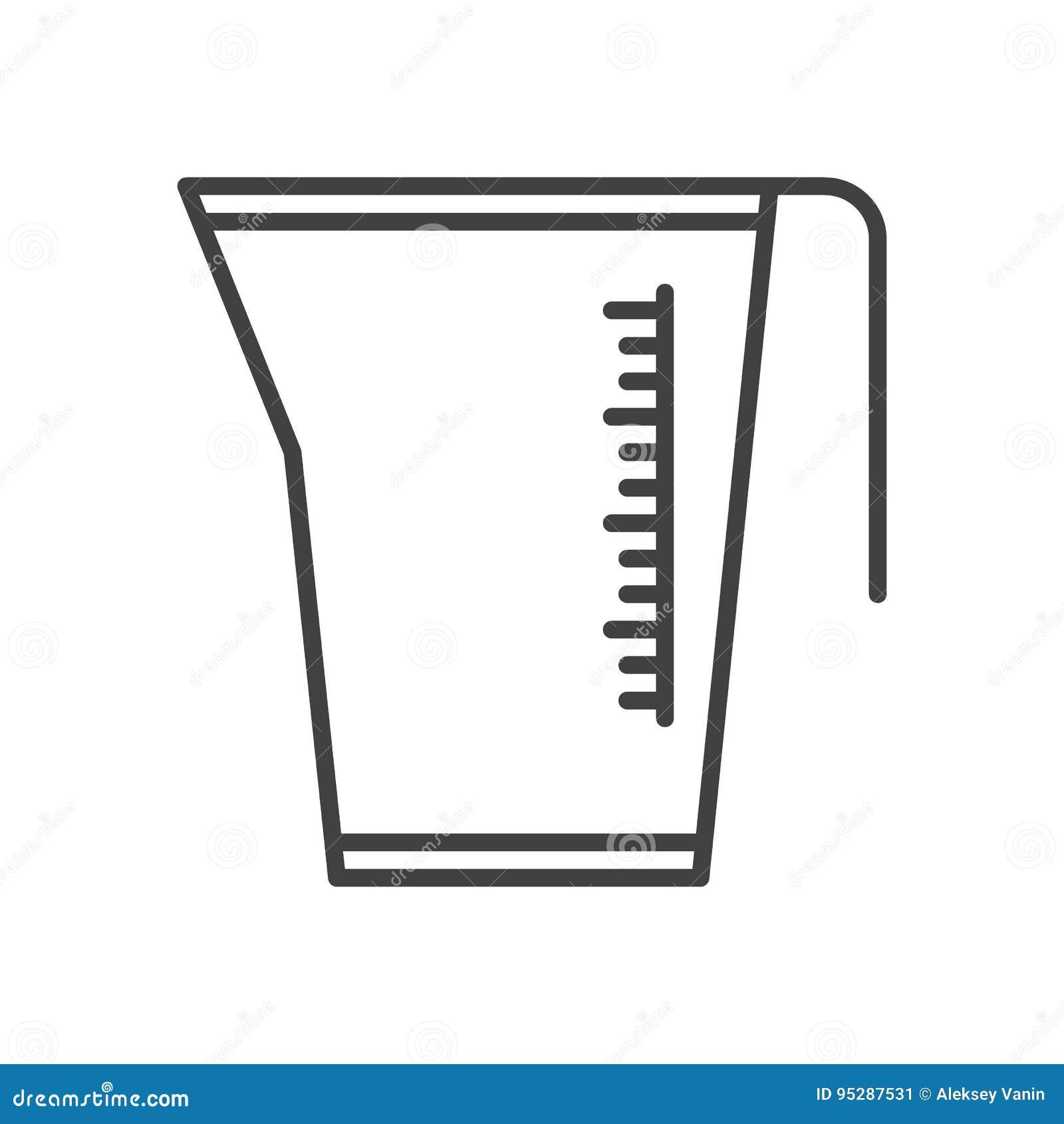 Metend Kruik, het pictogram van de koplijn, overzichts vectorteken, lineair die stijlpictogram op wit wordt geïsoleerd