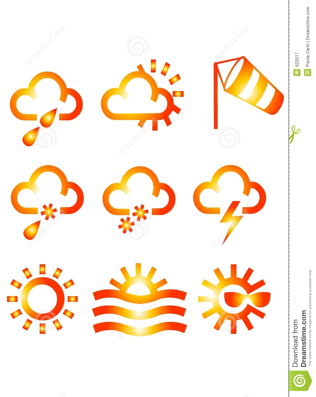 METEO Icons Royalty Free Stock Photography - Image: 623517