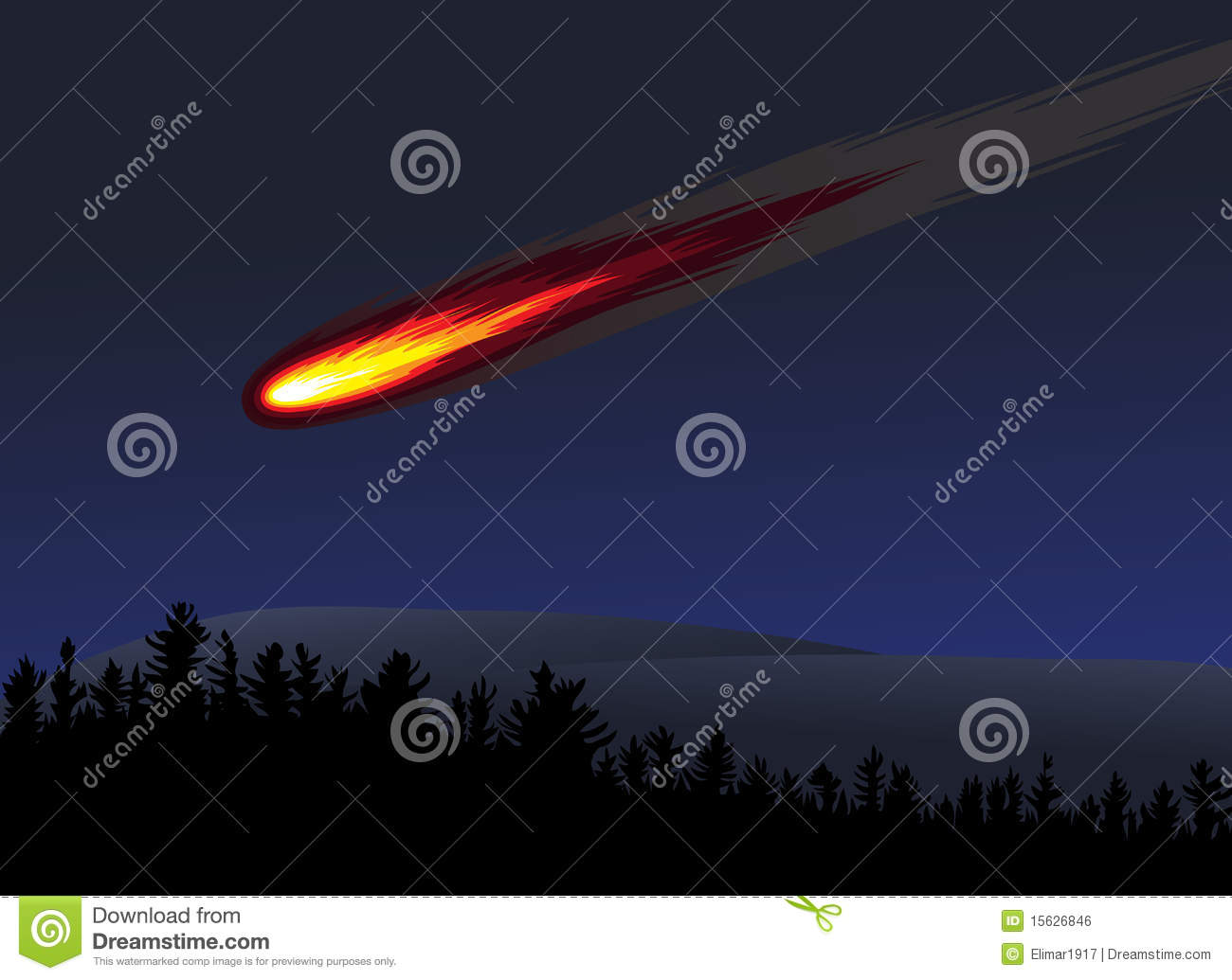 Meteor Or Fireball Royalty Free Stock Image - Image: 15626846
