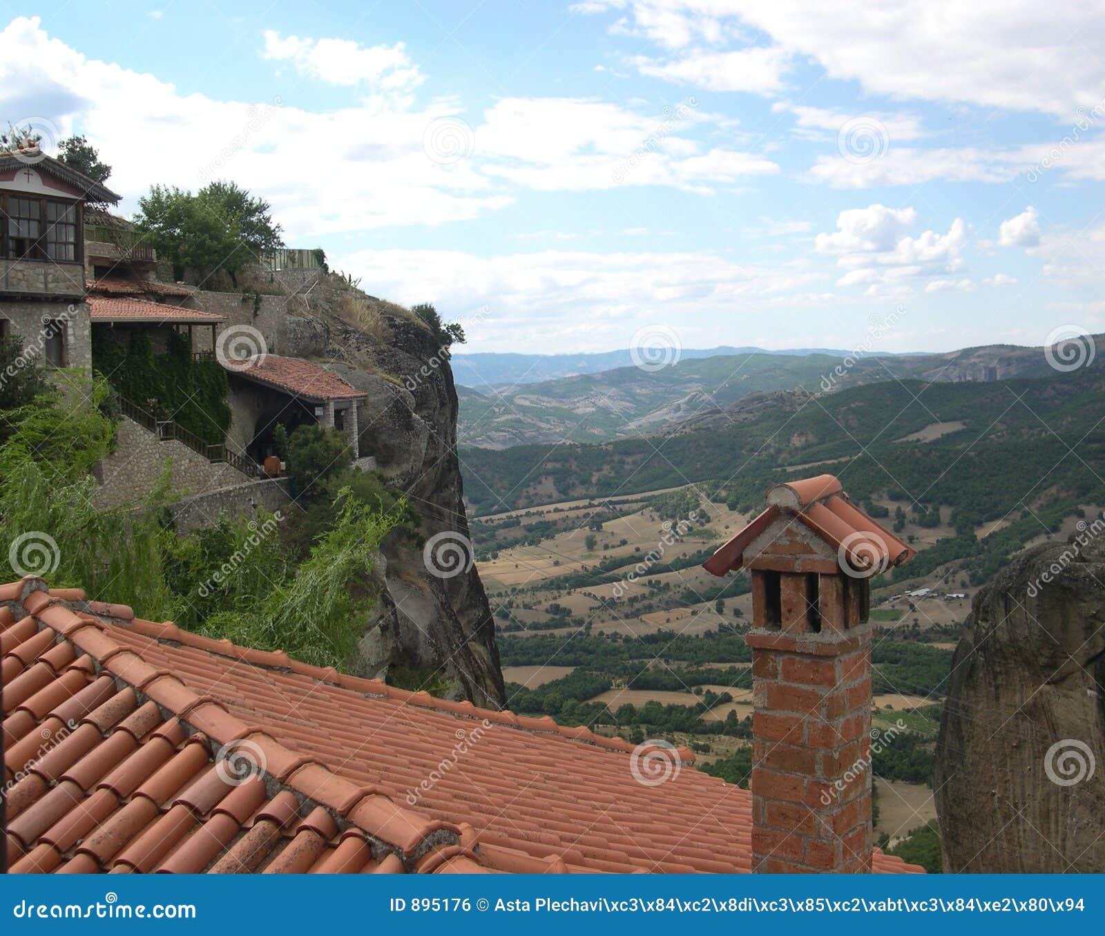 Meteora修道院视图