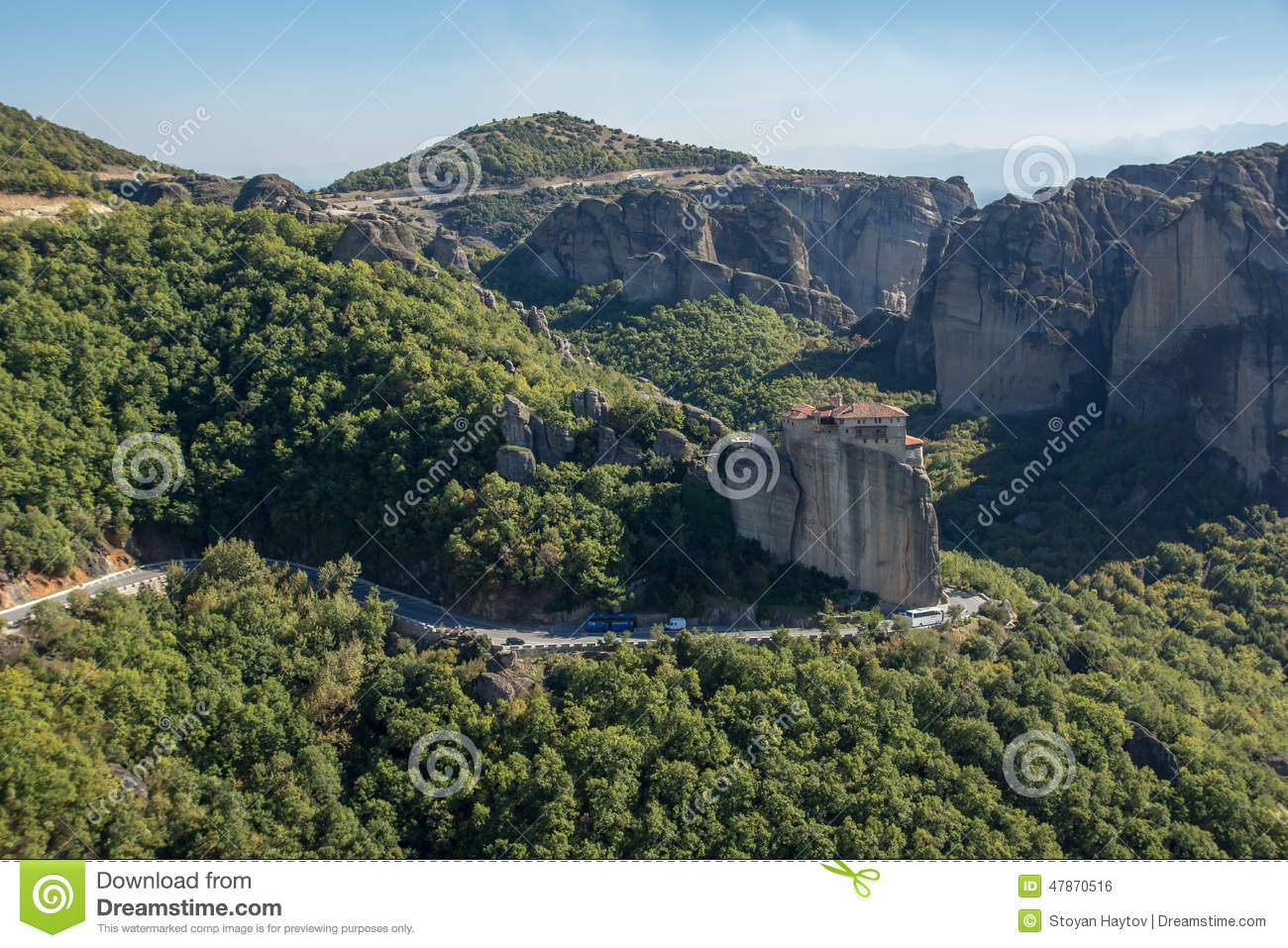 Meteora, Holy Monastery Of Rousanou St. Barbara Stock ...