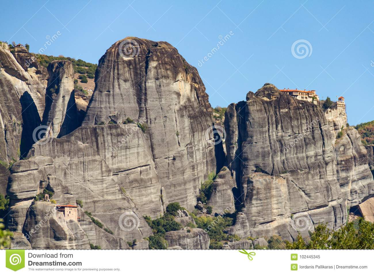 Meteora rock monastery complex in Greece, a UNESCO-listed site