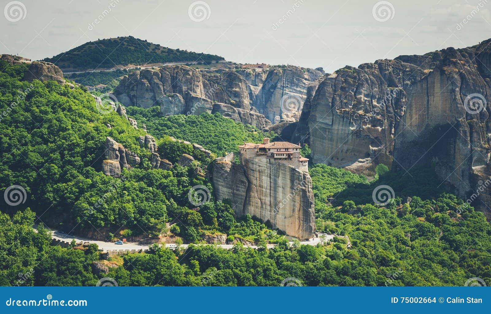 Meteorakloosters in Griekenland, Kalambaka-gebied, Thessaly Panor