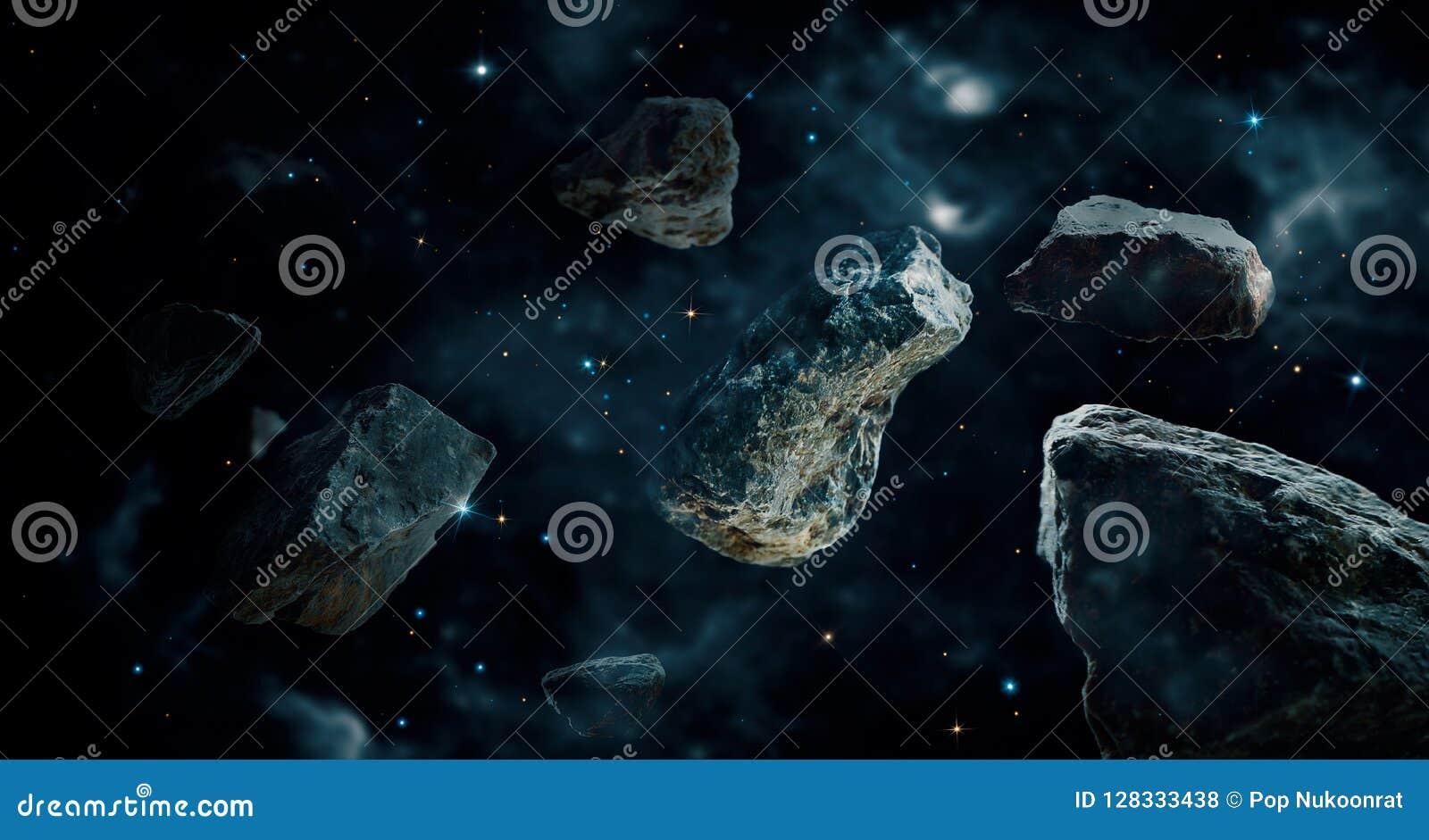 Meteorieten in diepe ruimteplaneten Asteroïden in ver