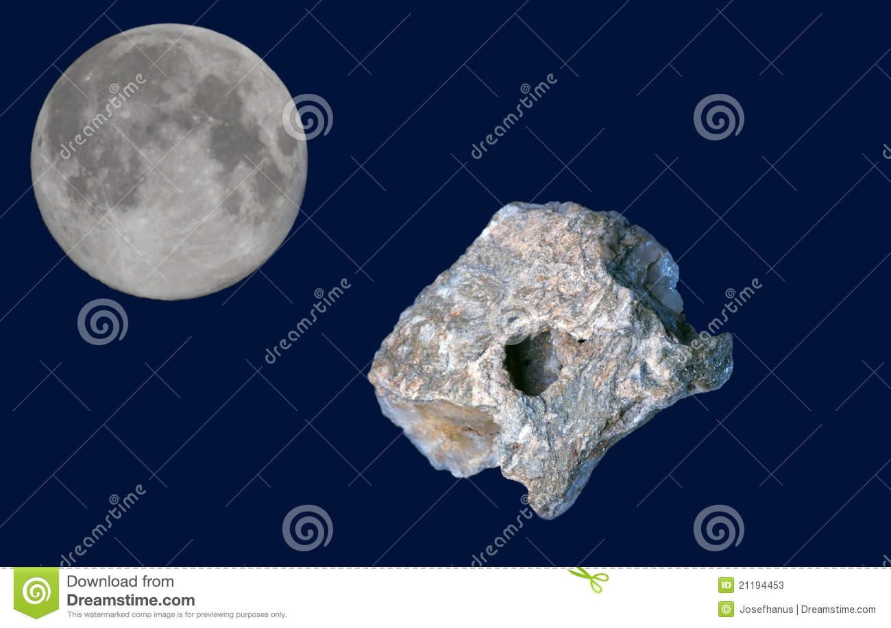 Meteorite and the moon