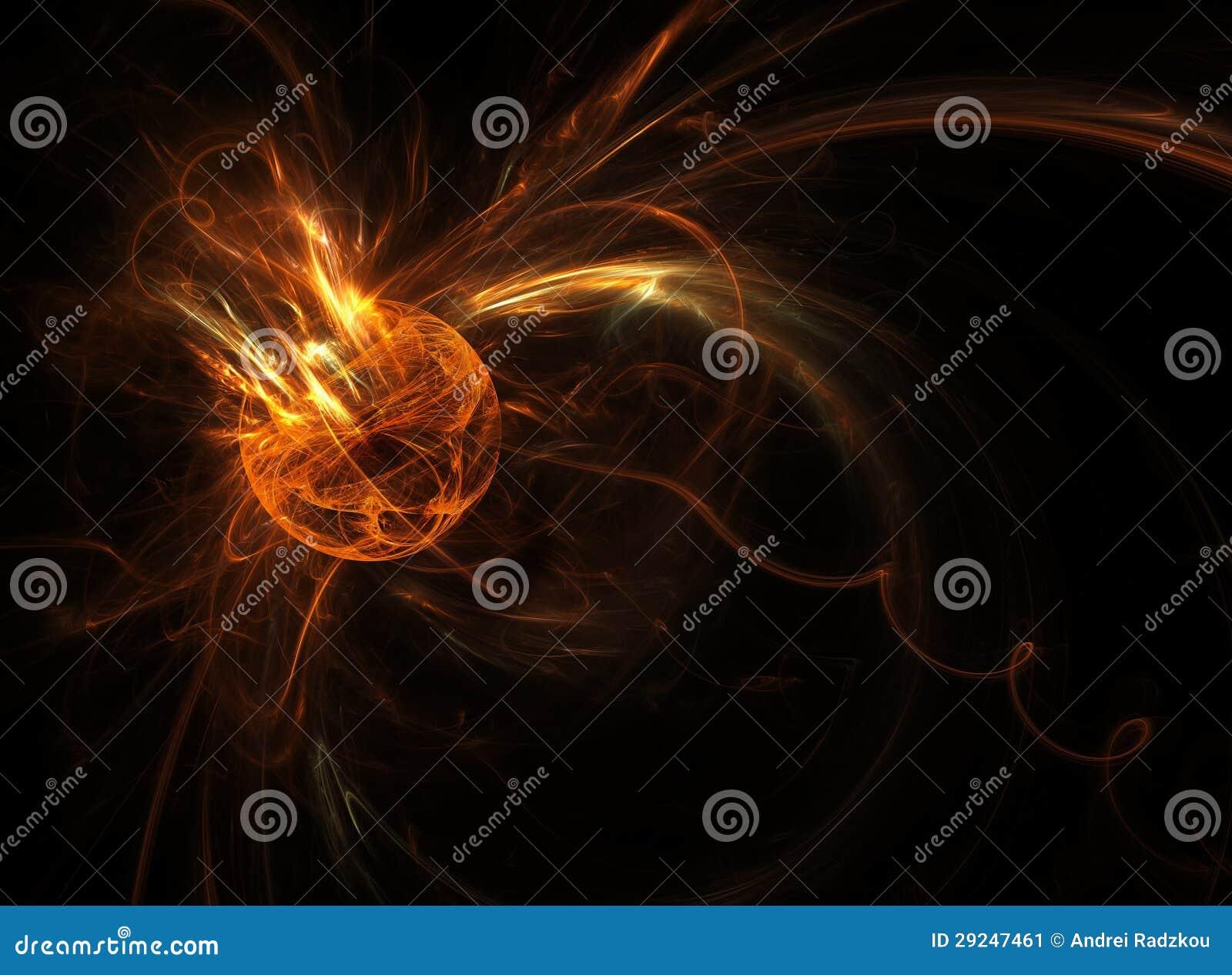 Download Meteorito ilustração stock. Ilustração de incêndio, fulgor - 29247461