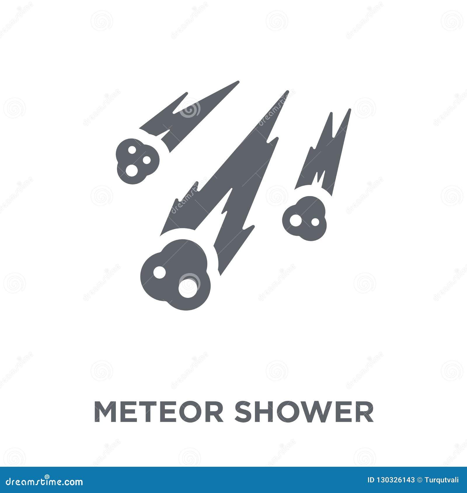 Meteorregnsymbol från astronomisamling