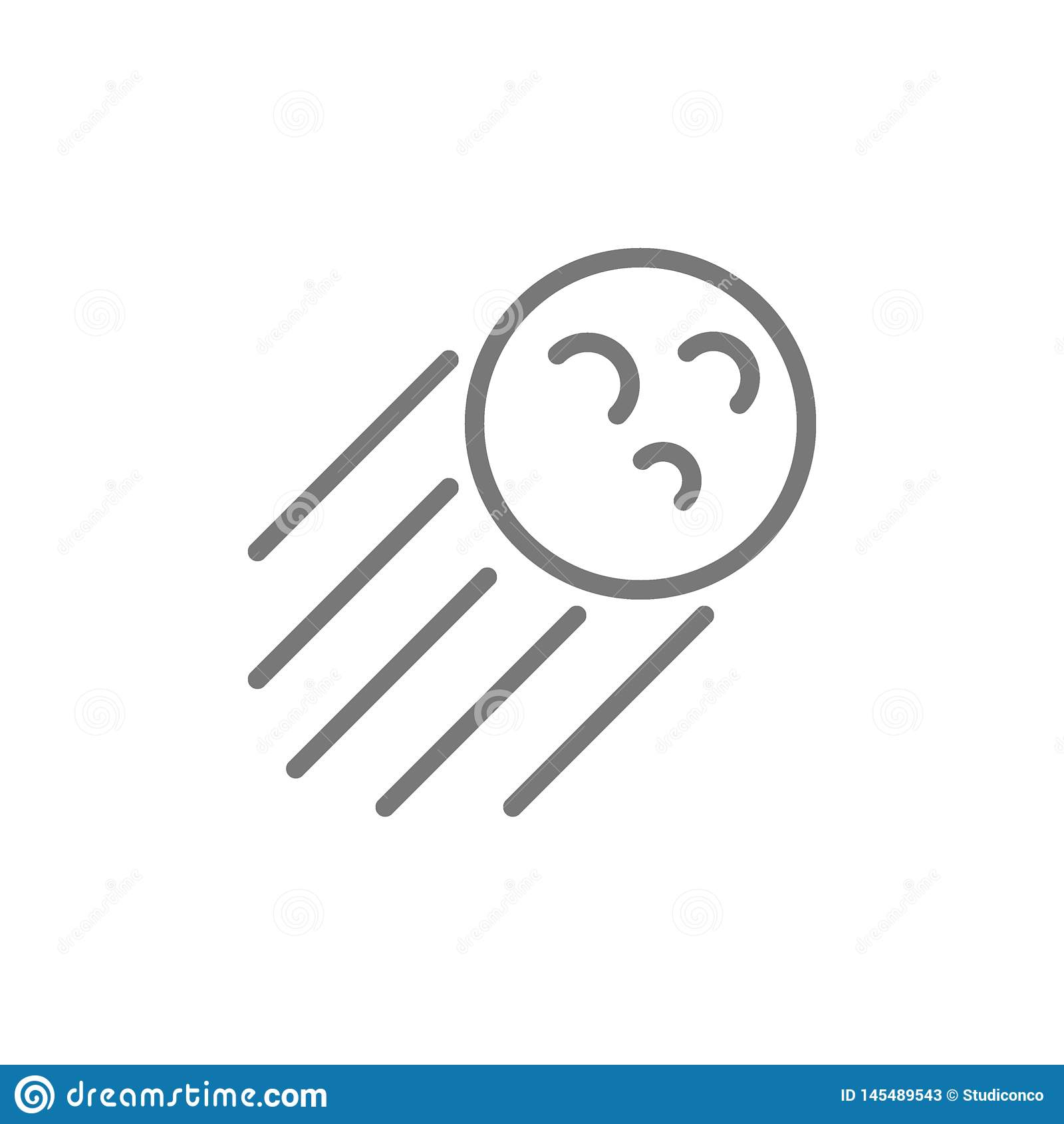 Meteoryt kreskowa ikona