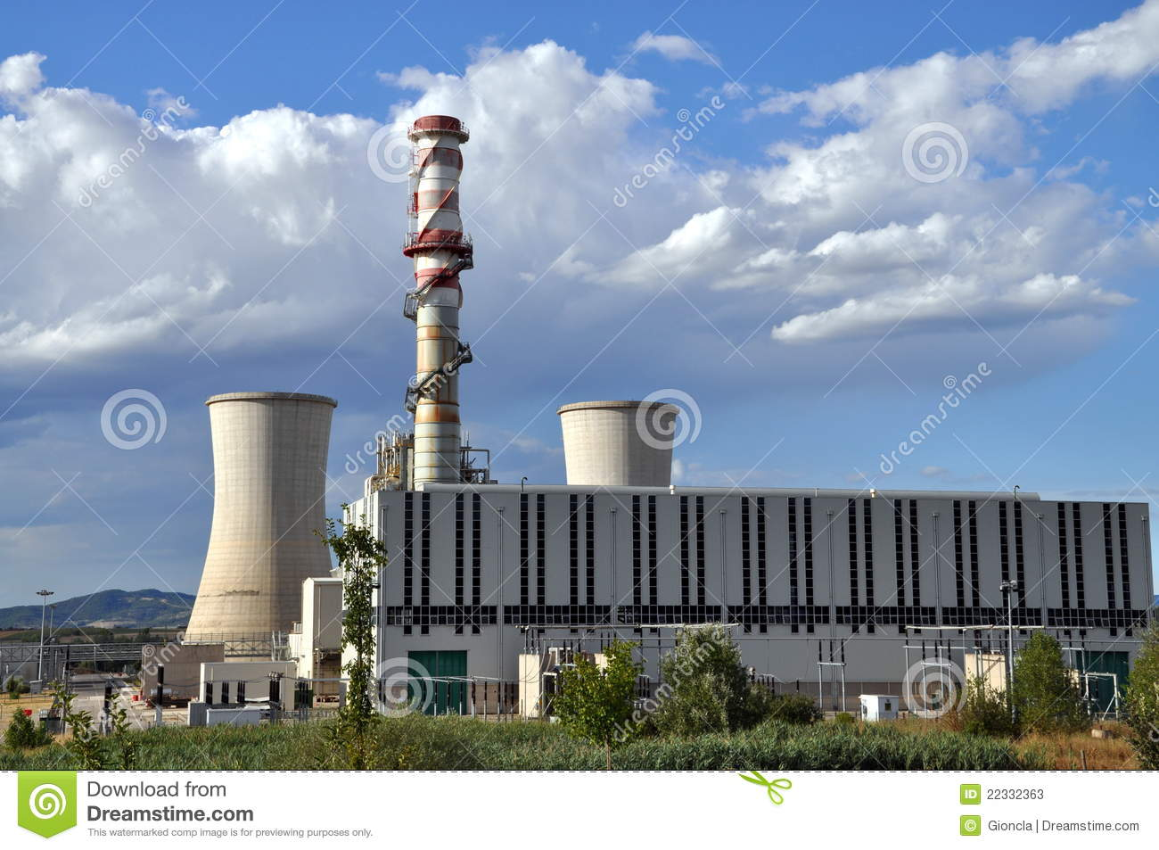 Methane Gas Turbine Power Plant Stock Image Image Of
