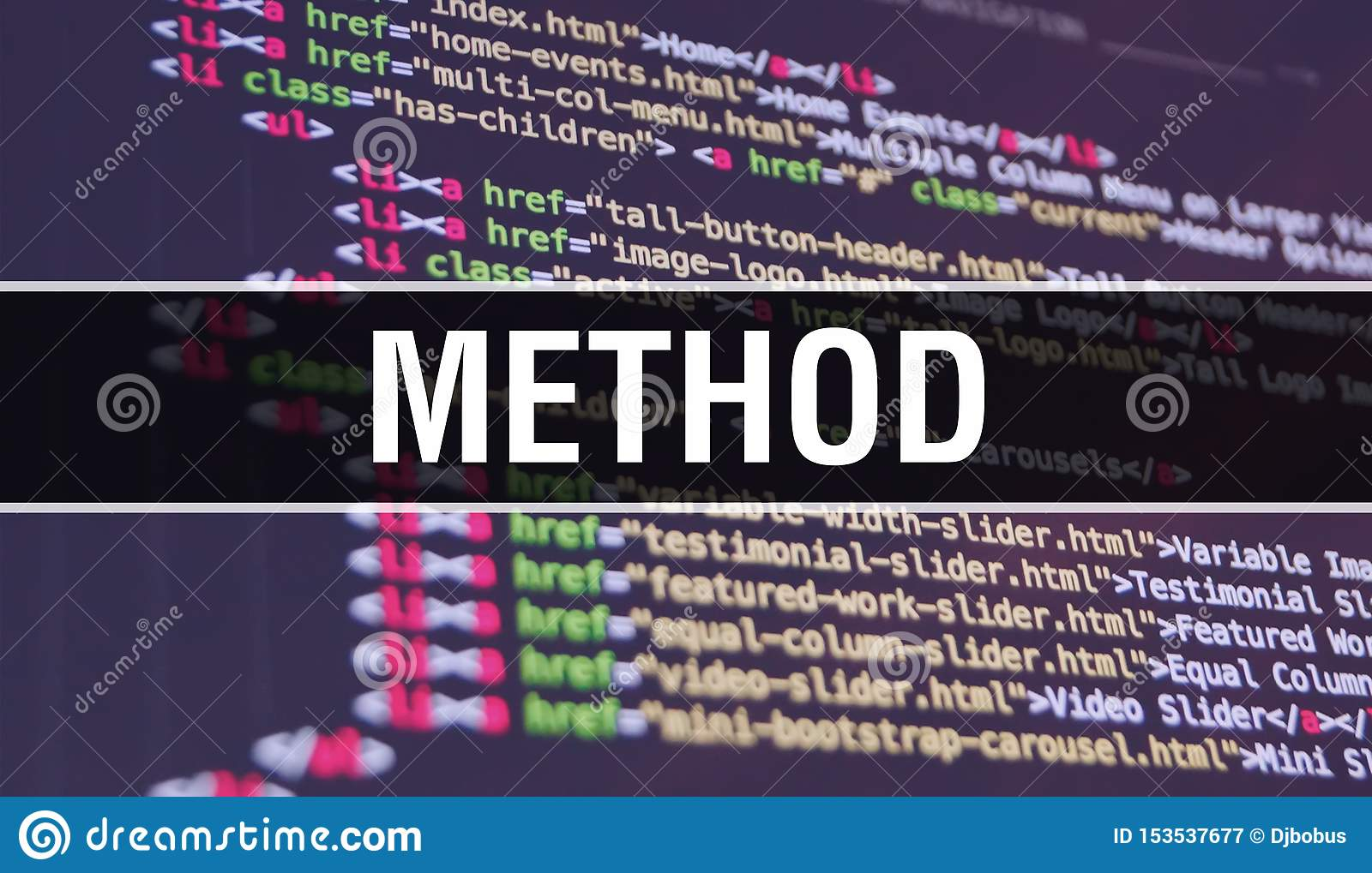 Method Concept Illustration Using Code For Developing Programs And