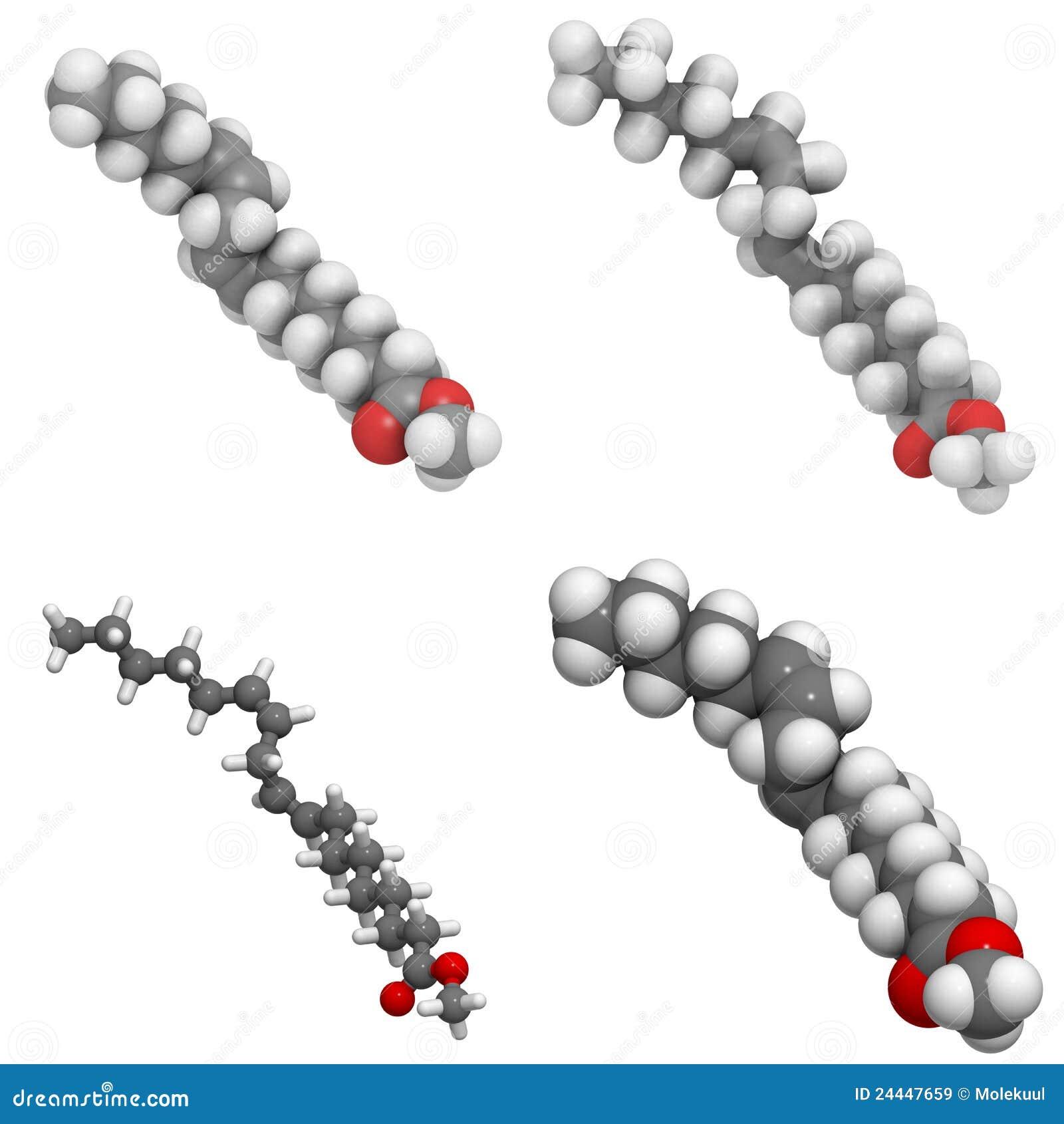 Methyl Lineolate (biodiesel) Molecule Royalty Free Stock ...
