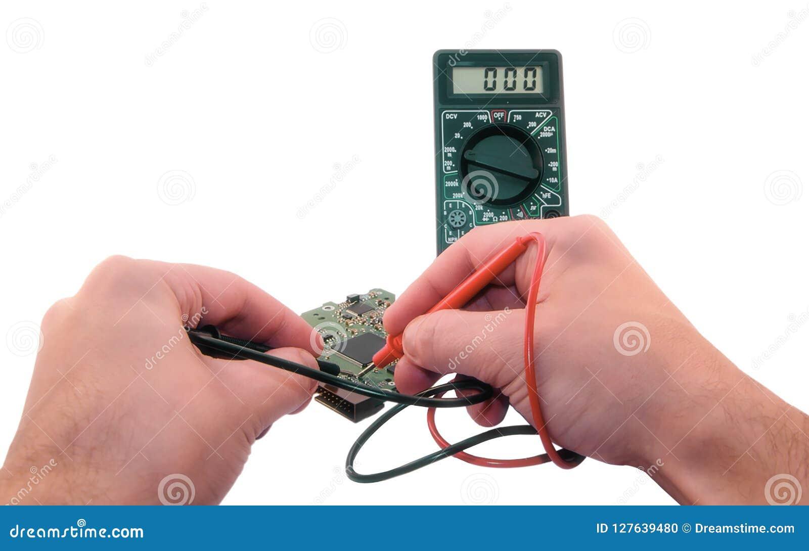Meting met een elektronische multimeter