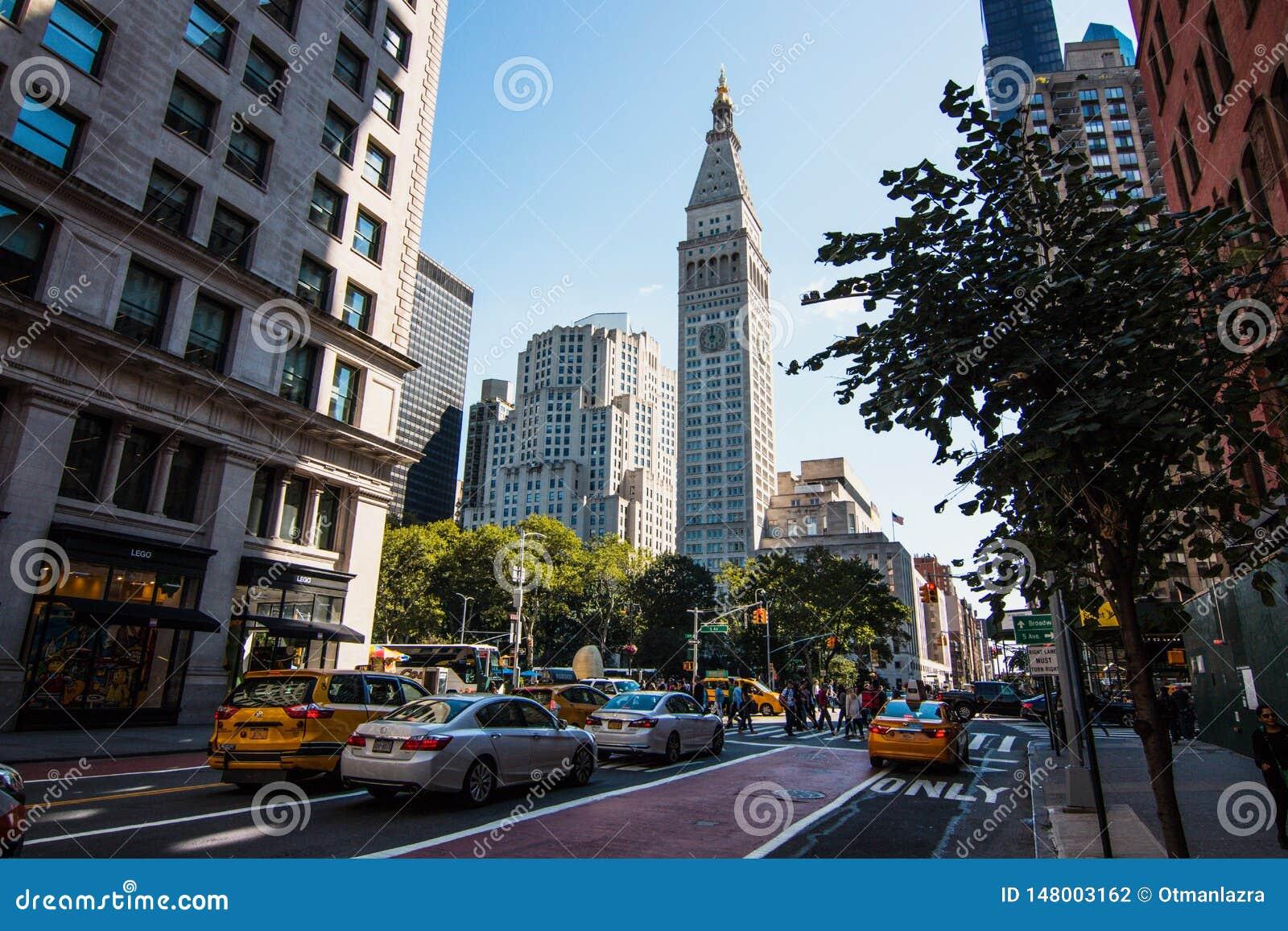 Metlife-Turm in Manhattan in Madison Square Park