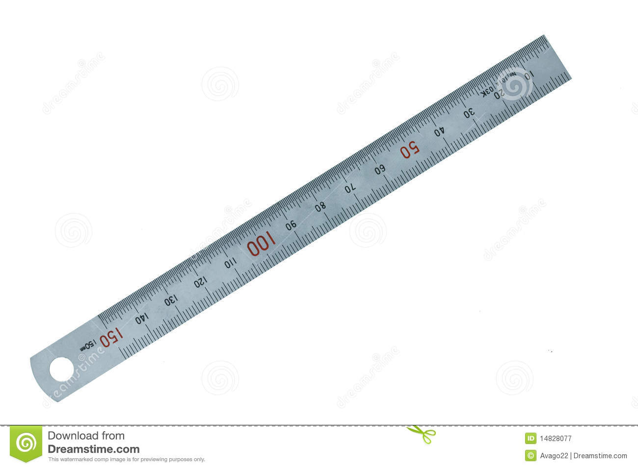 Metric Steel Ruler Royalty Free Stock Photography - Image: 14828077