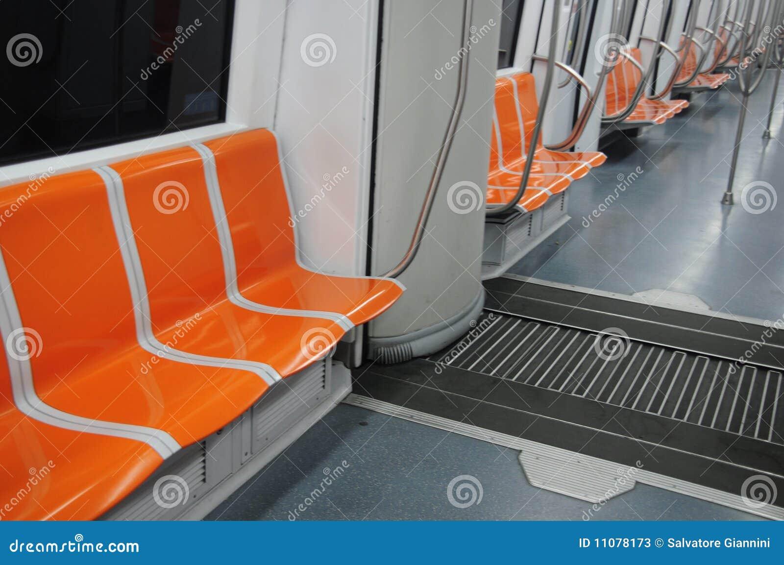 Metro carriage seats stock photos image 11078173 - Carrage metro ...