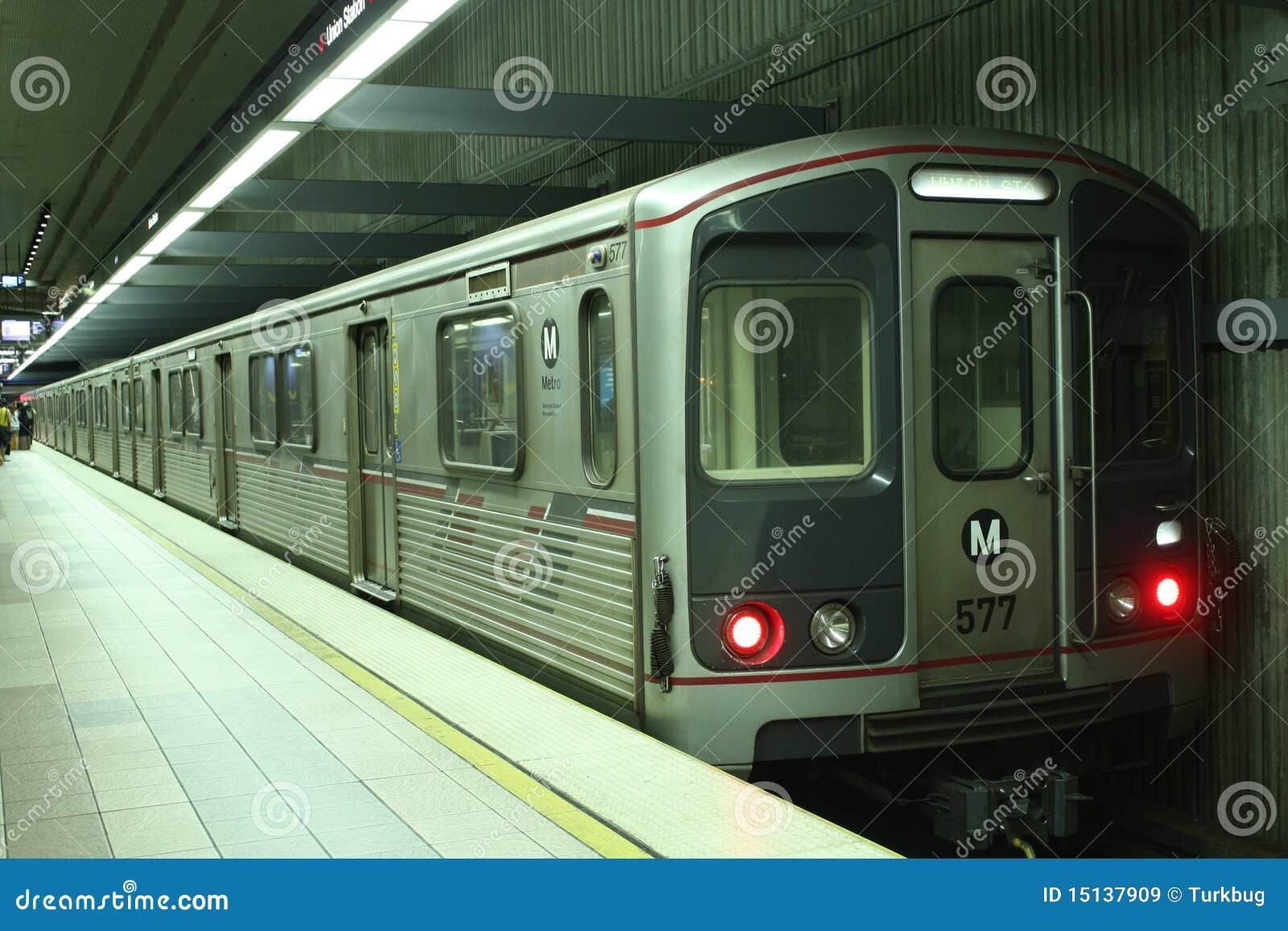Metro Red line subway train