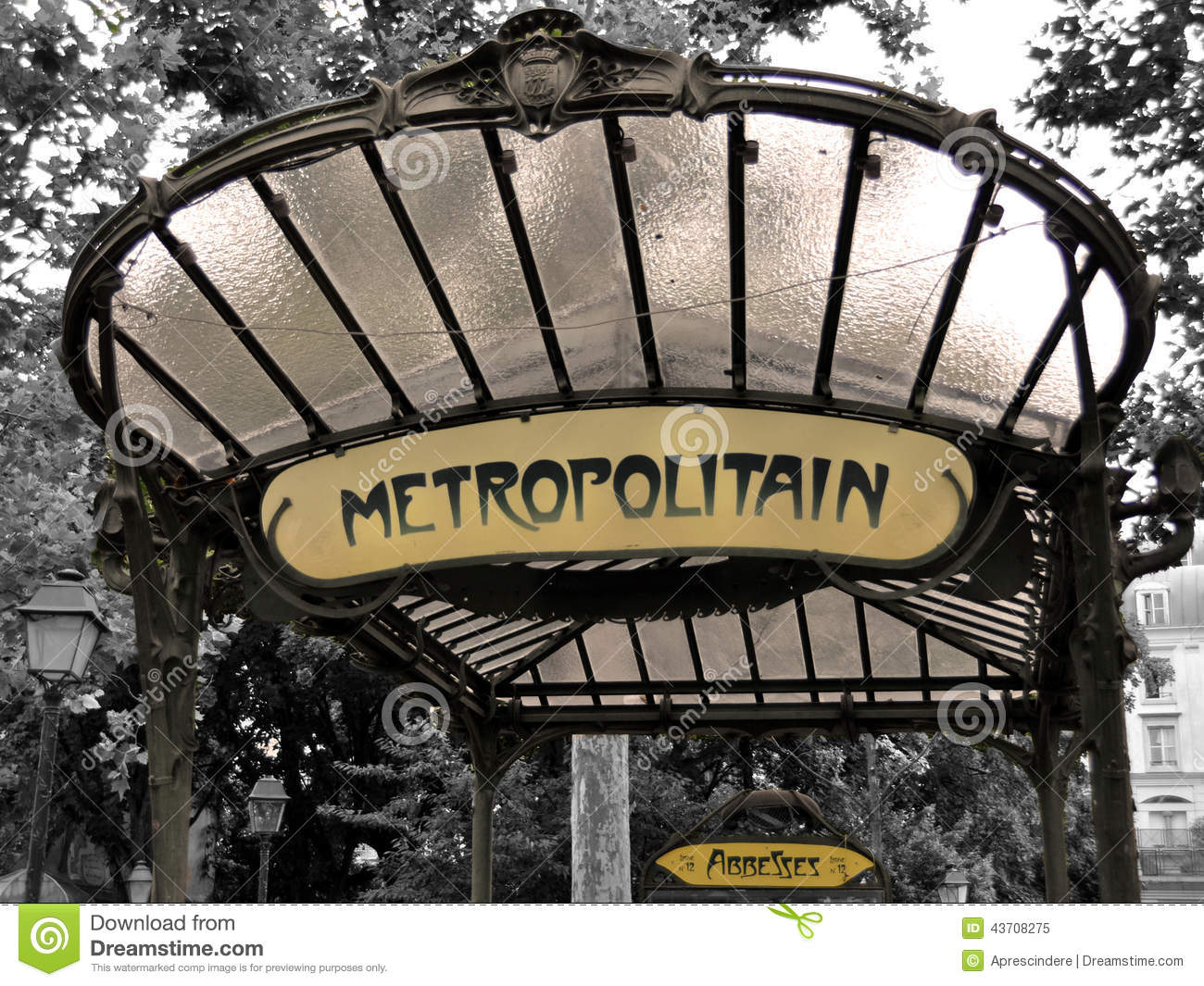 Metro sign in Paris - Abbesses