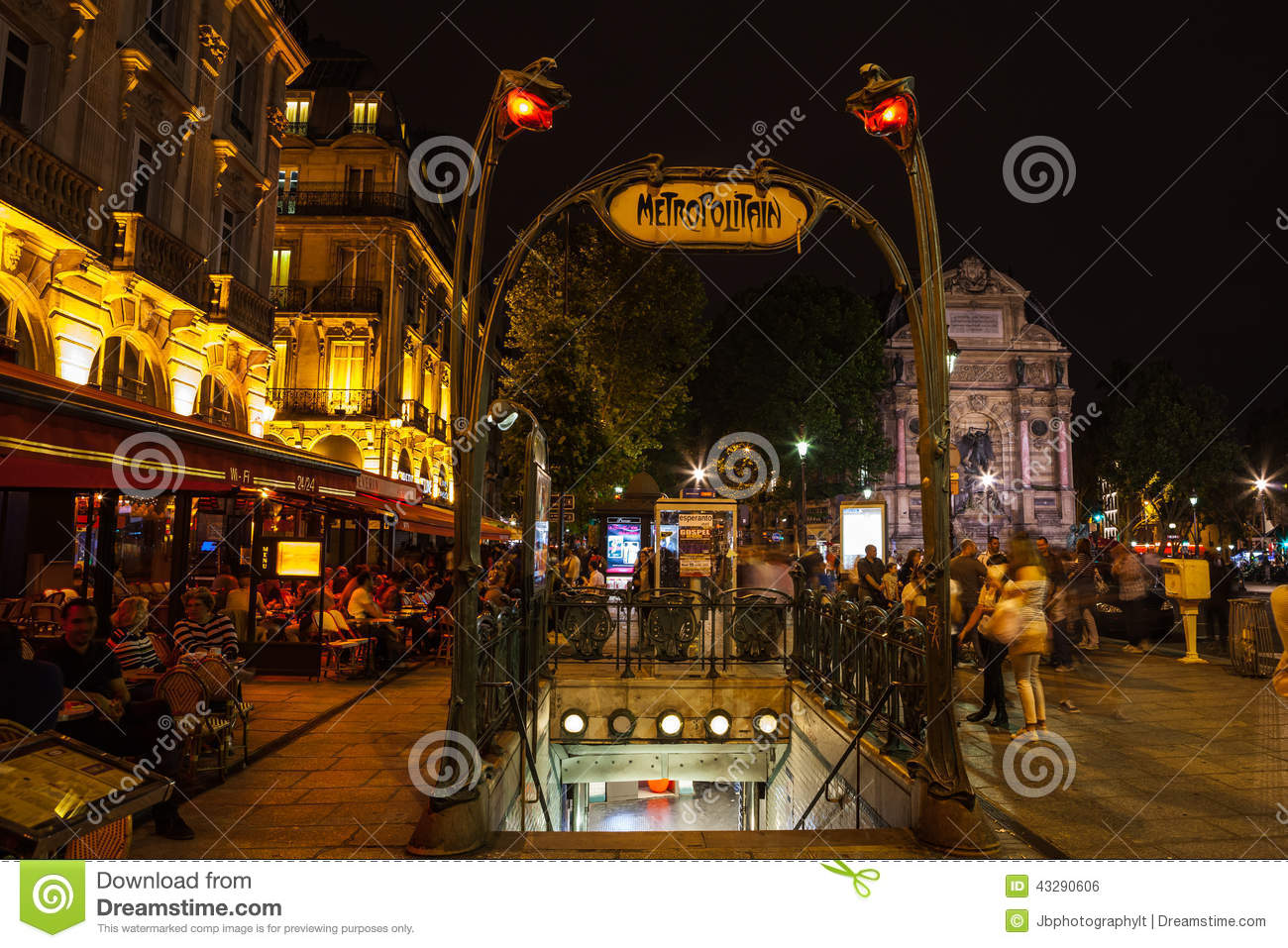 Metro sign editorial photo image 43290606 - Metro saint michel paris ...