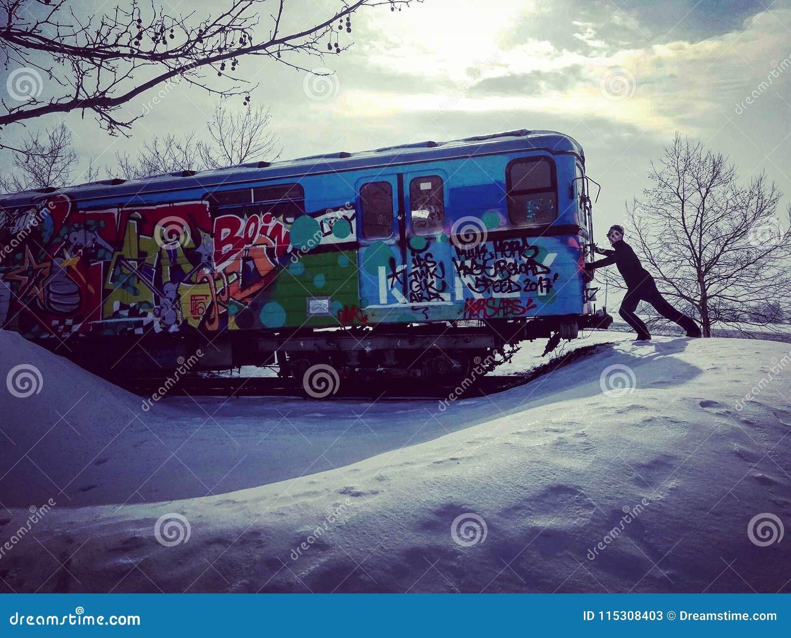 Metro in the snow