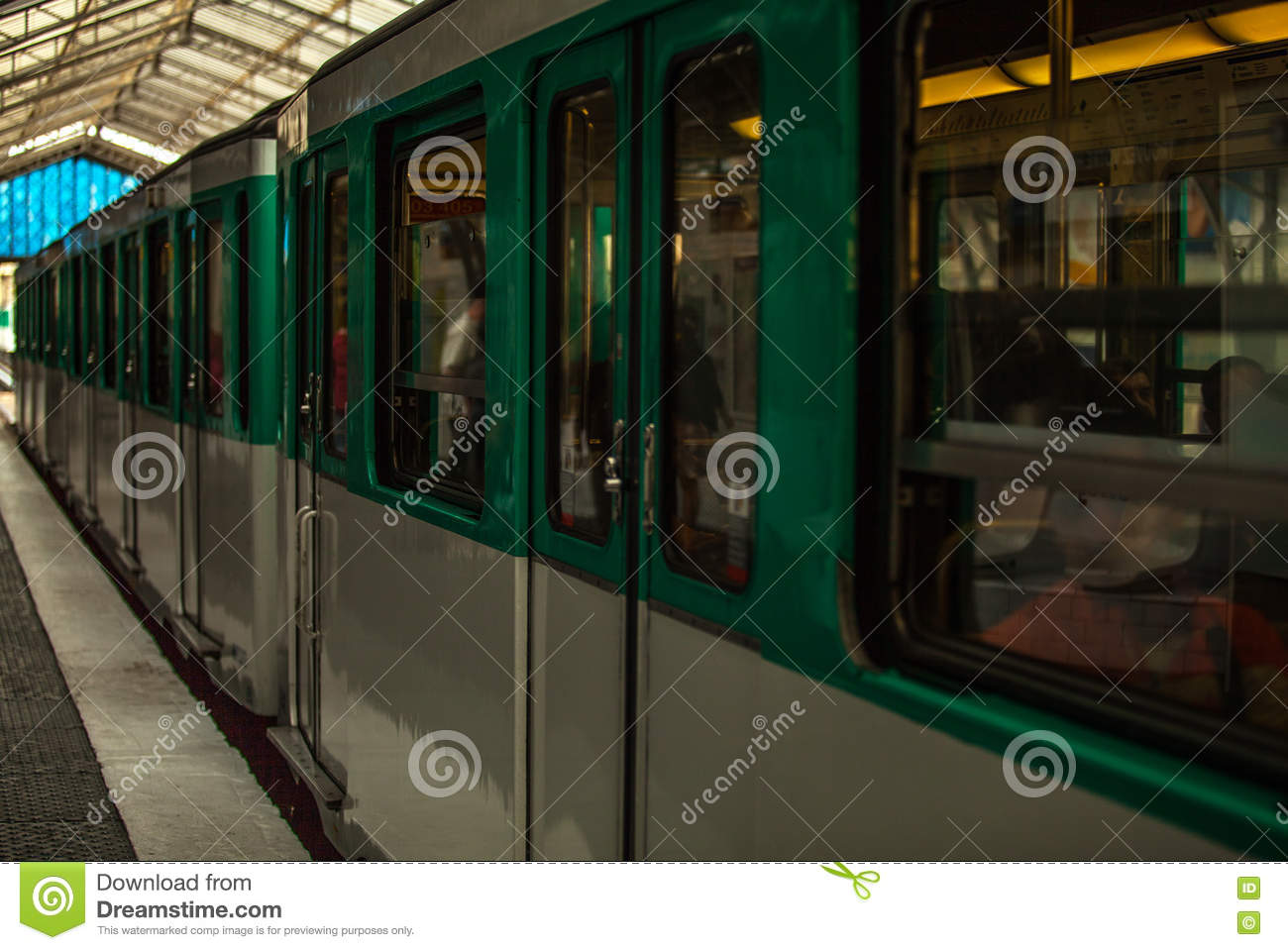 Metro Station In Paris, France. Paris Metro Is The 2nd Largest ...