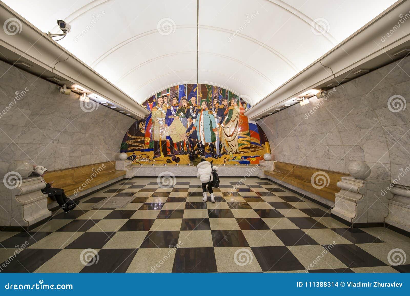 a53214597ca Metro station Park Pobedy-- Moscow Metro, Russia.It is on two lines:  Arbatsko-Pokrovskaya and Kalininsko-Solntsevskaya Lines.At 84 metres  underground-- one ...