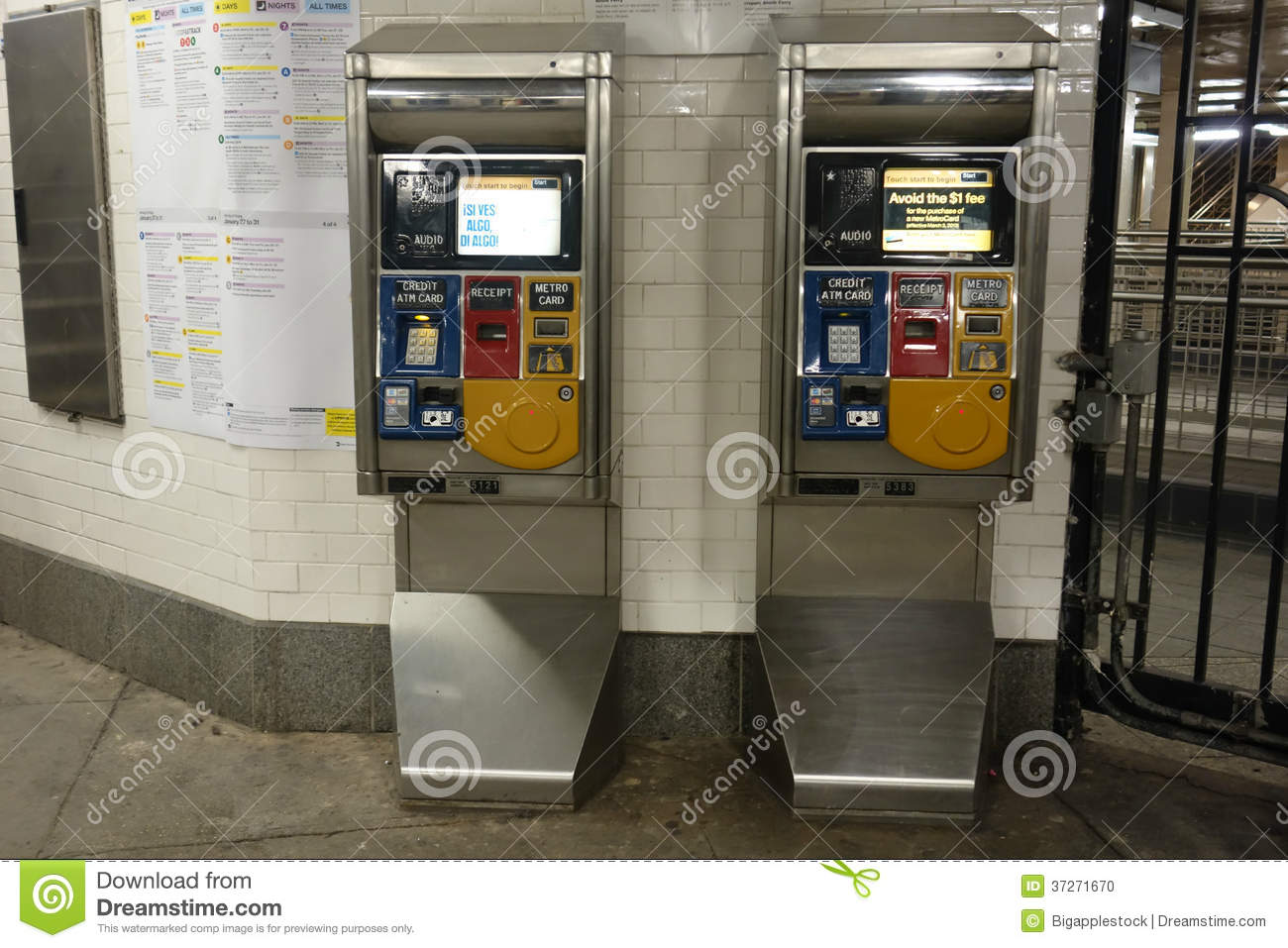 Credit Union Nyc >> Metrocard Vending Machines Editorial Image - Image: 37271670