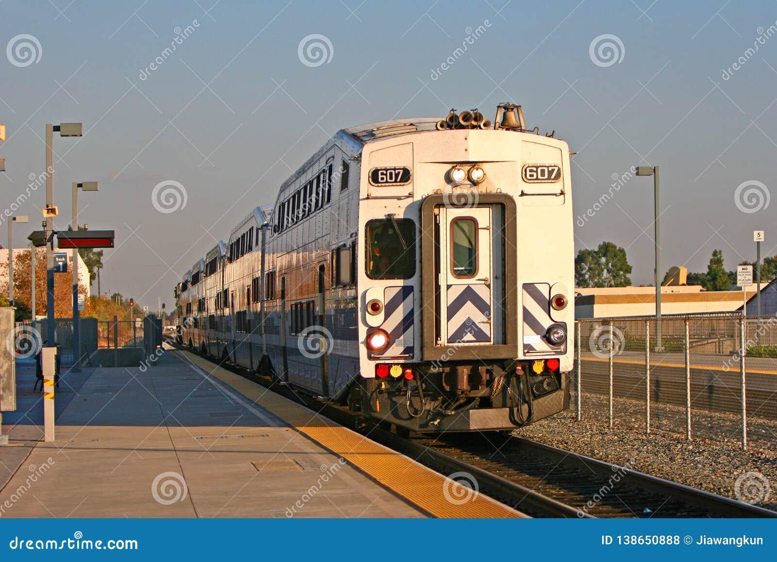 Metrolink in Moutclair, Los Angeles, CA, U.S.A.