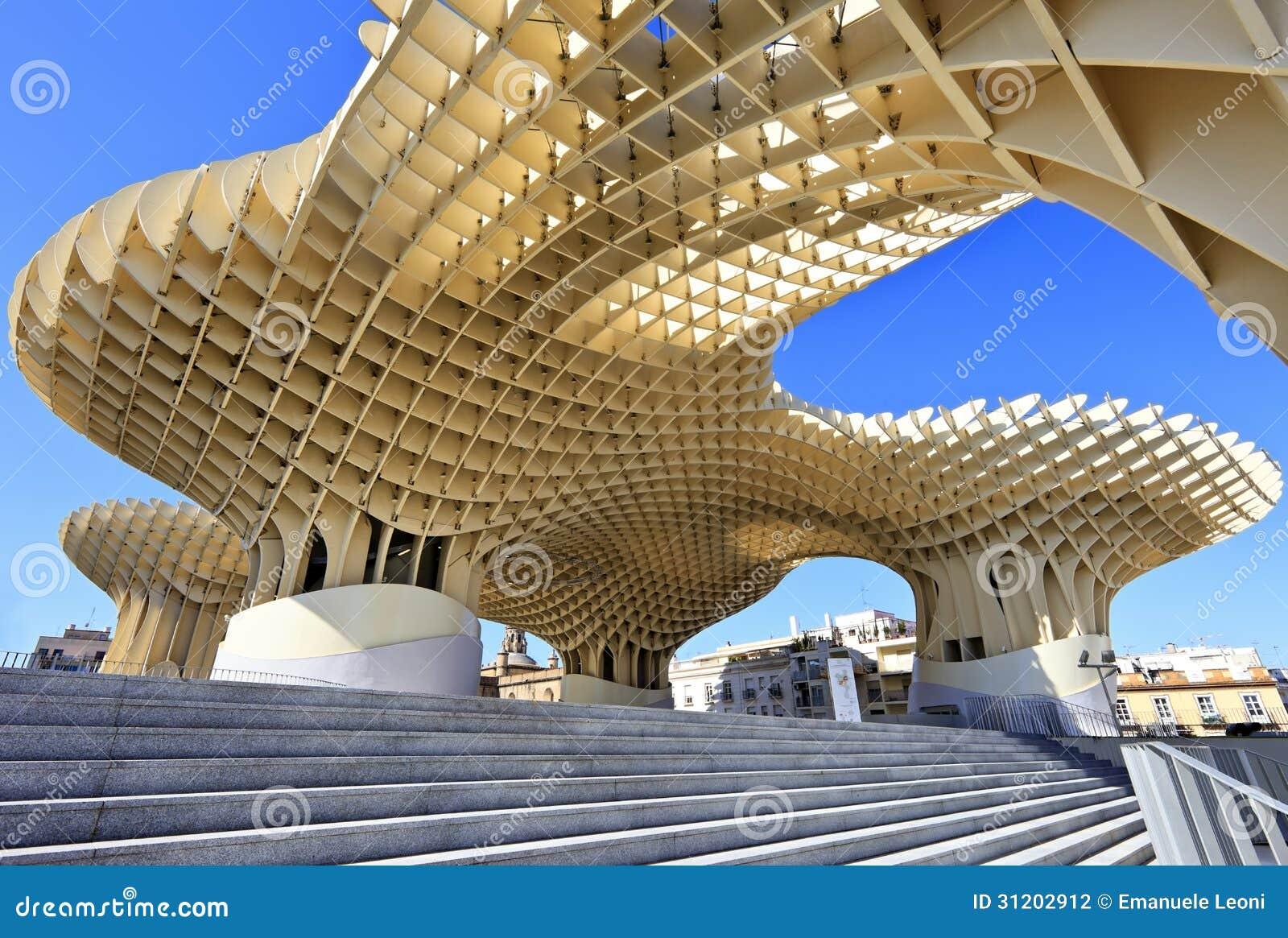 Metropol Parasol w Placu De Los angeles Encarnacion, Sevilla
