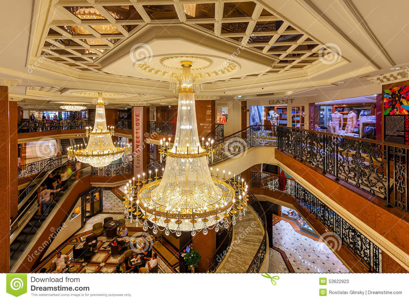 Metropole Shopping Center Interior View Editorial Stock