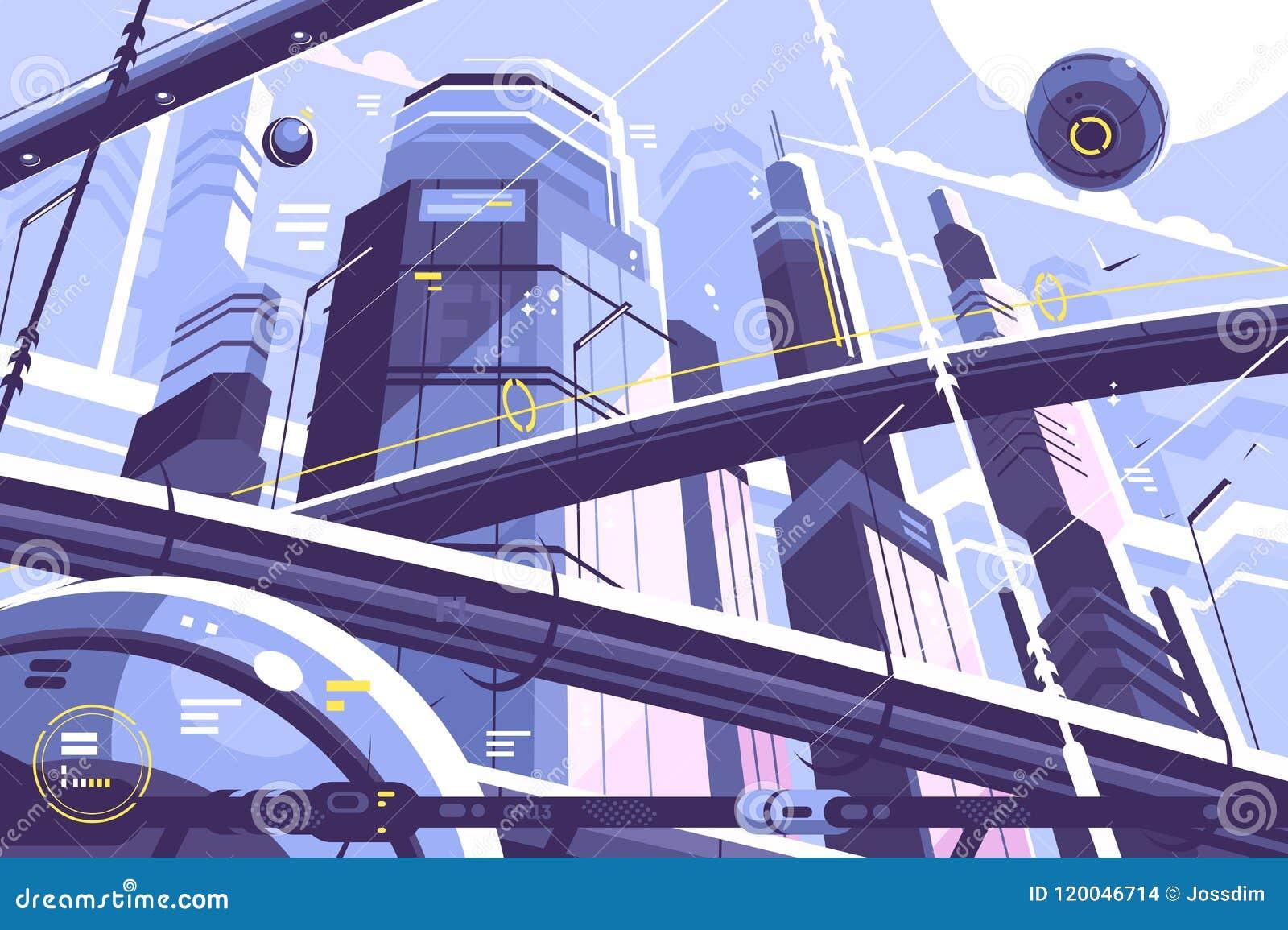 Metropoli della città di futuro